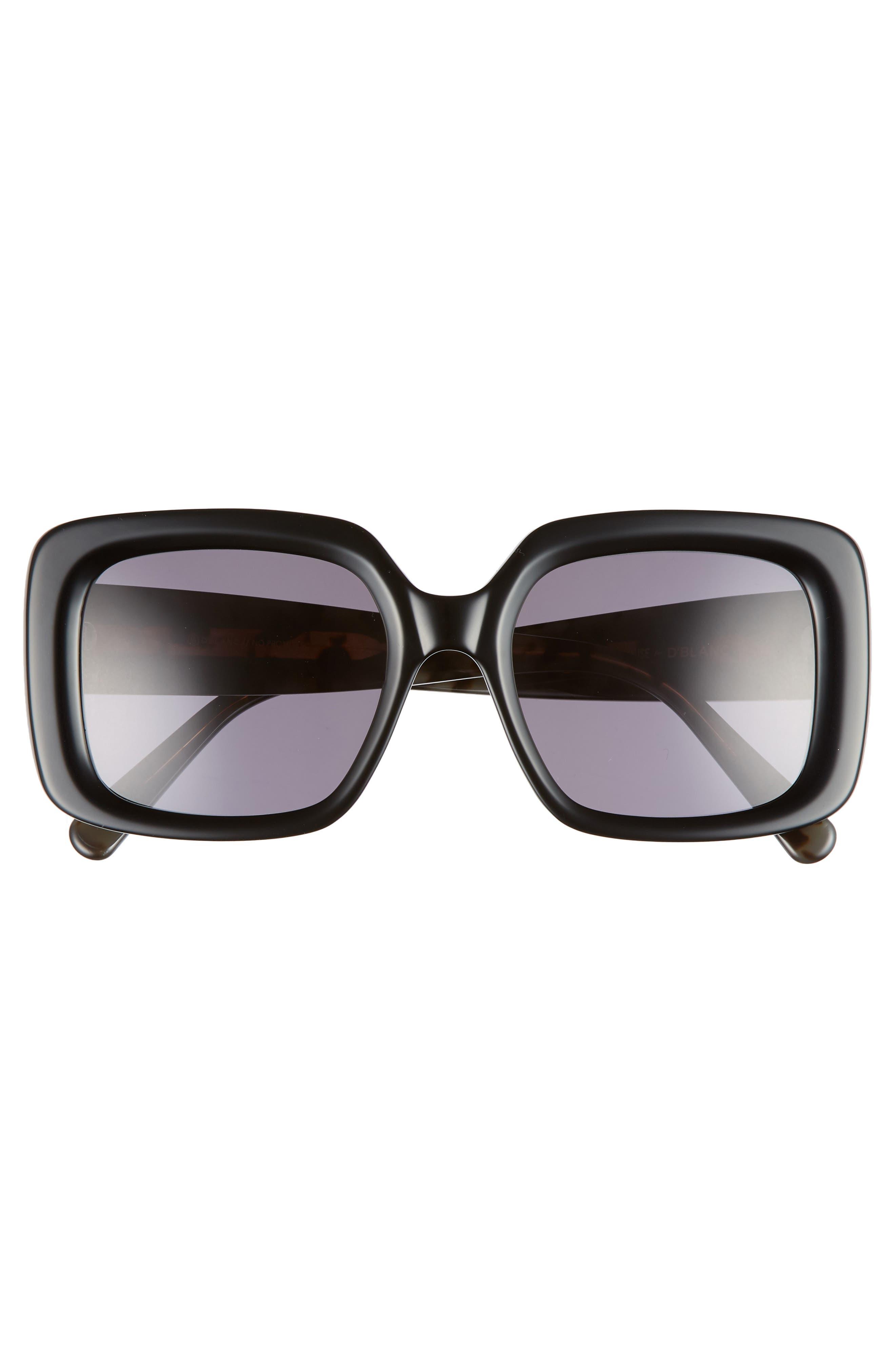 D'BLANC No Promises 53mm Sunglasses,                             Alternate thumbnail 3, color,                             001