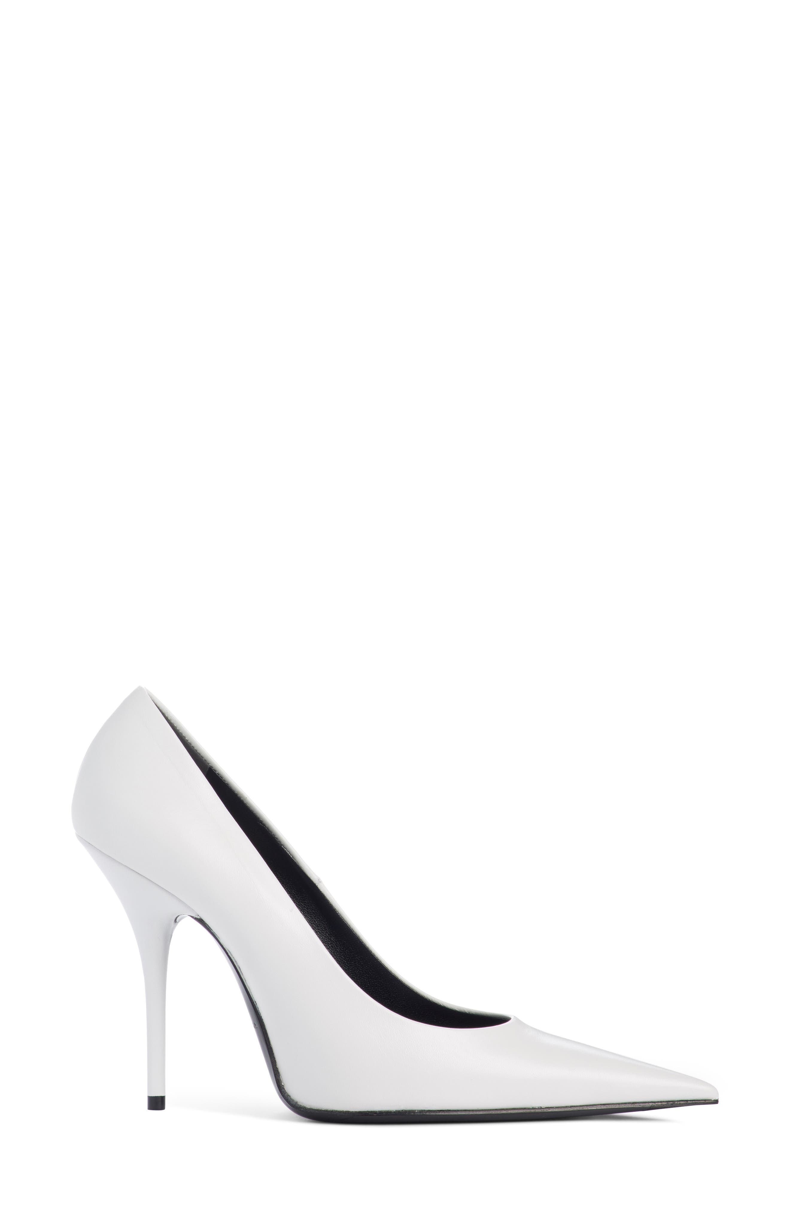 Pointy Toe Pump,                             Alternate thumbnail 3, color,                             WHITE