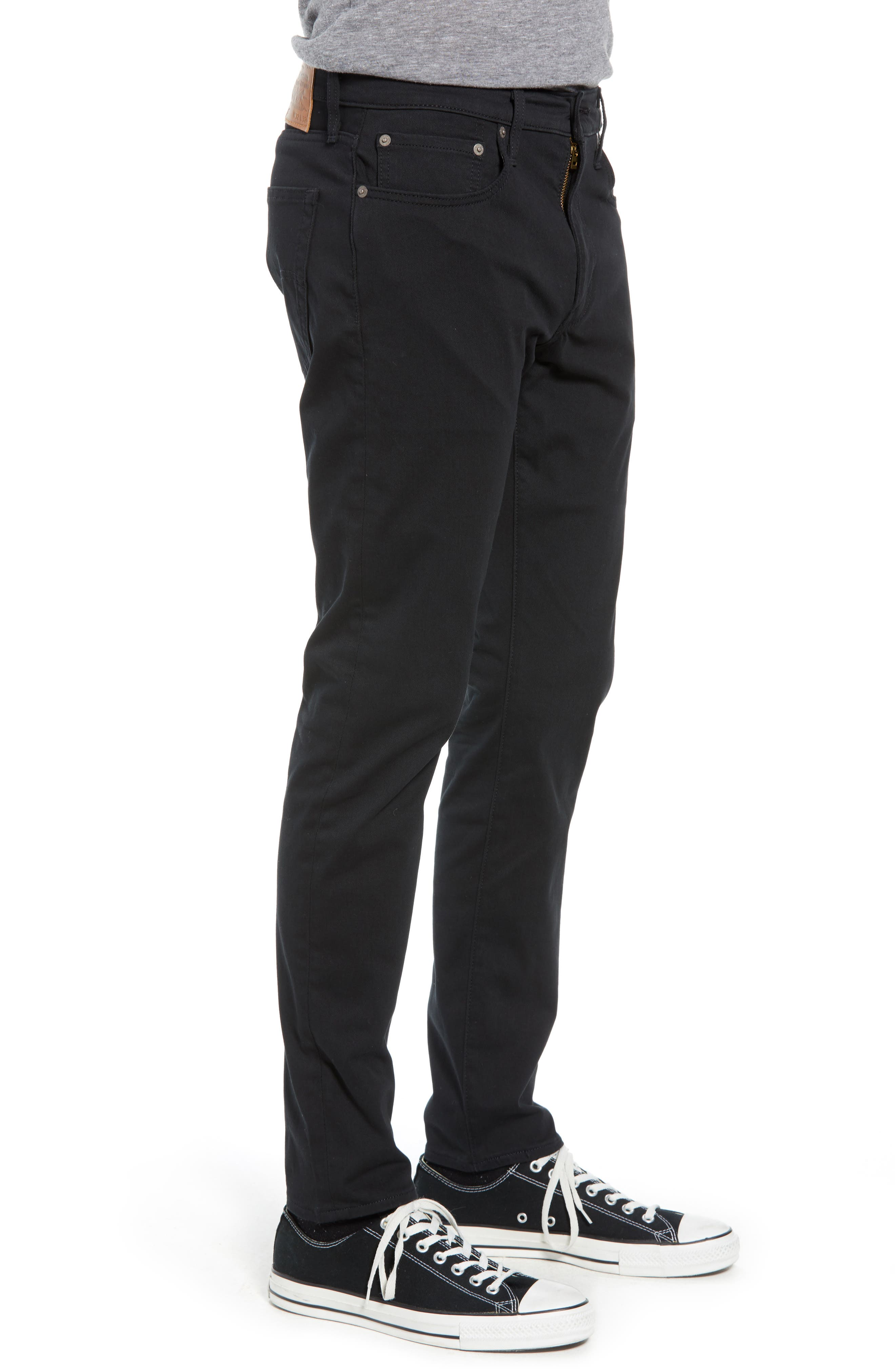 512<sup>™</sup> Slouchy Skinny Fit Twill Pants,                             Alternate thumbnail 3, color,                             BLACK WONDER KNIT TWILL