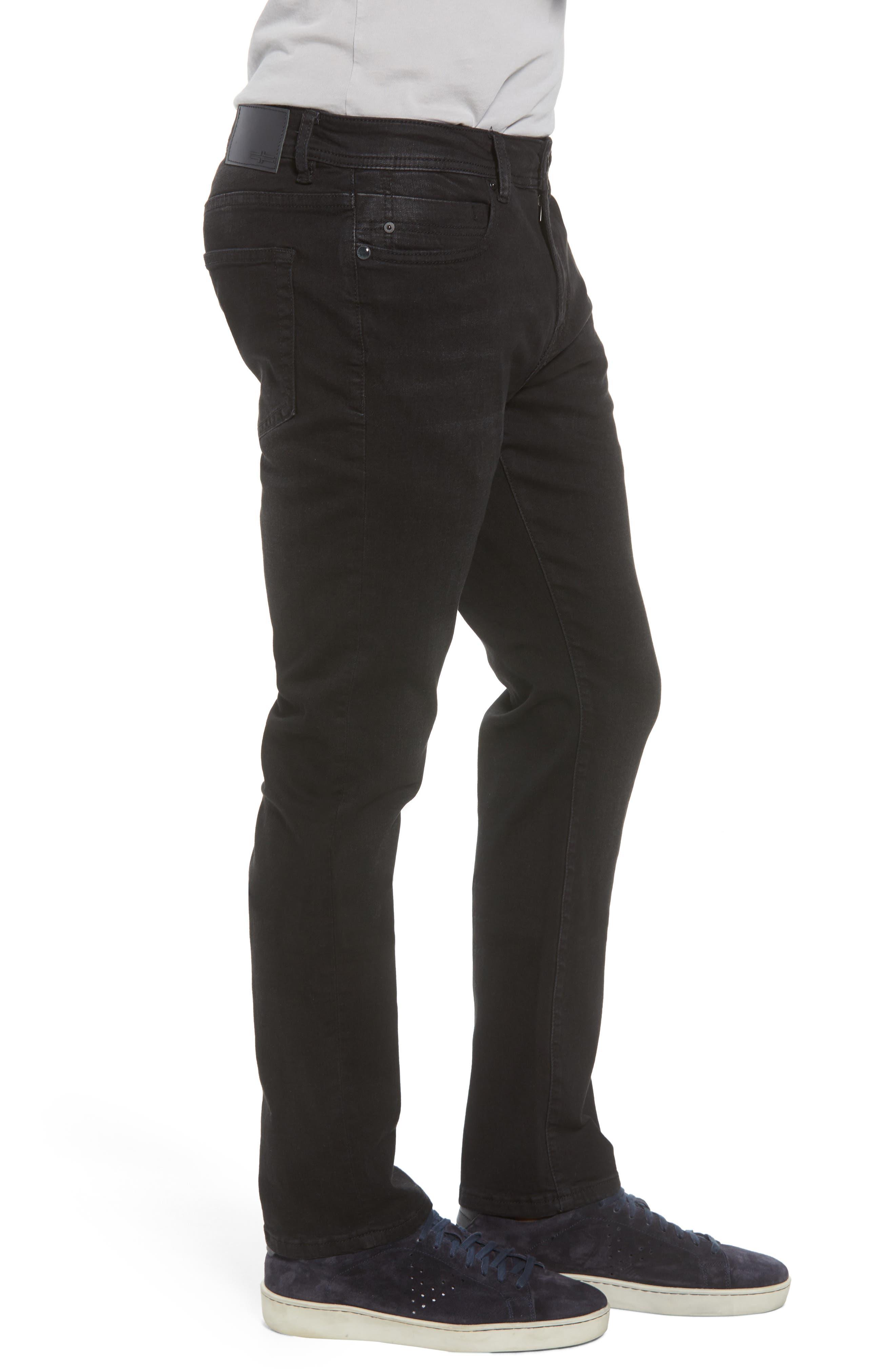Kingston Slim Straight Leg Jeans,                             Alternate thumbnail 3, color,                             BULLET DARK
