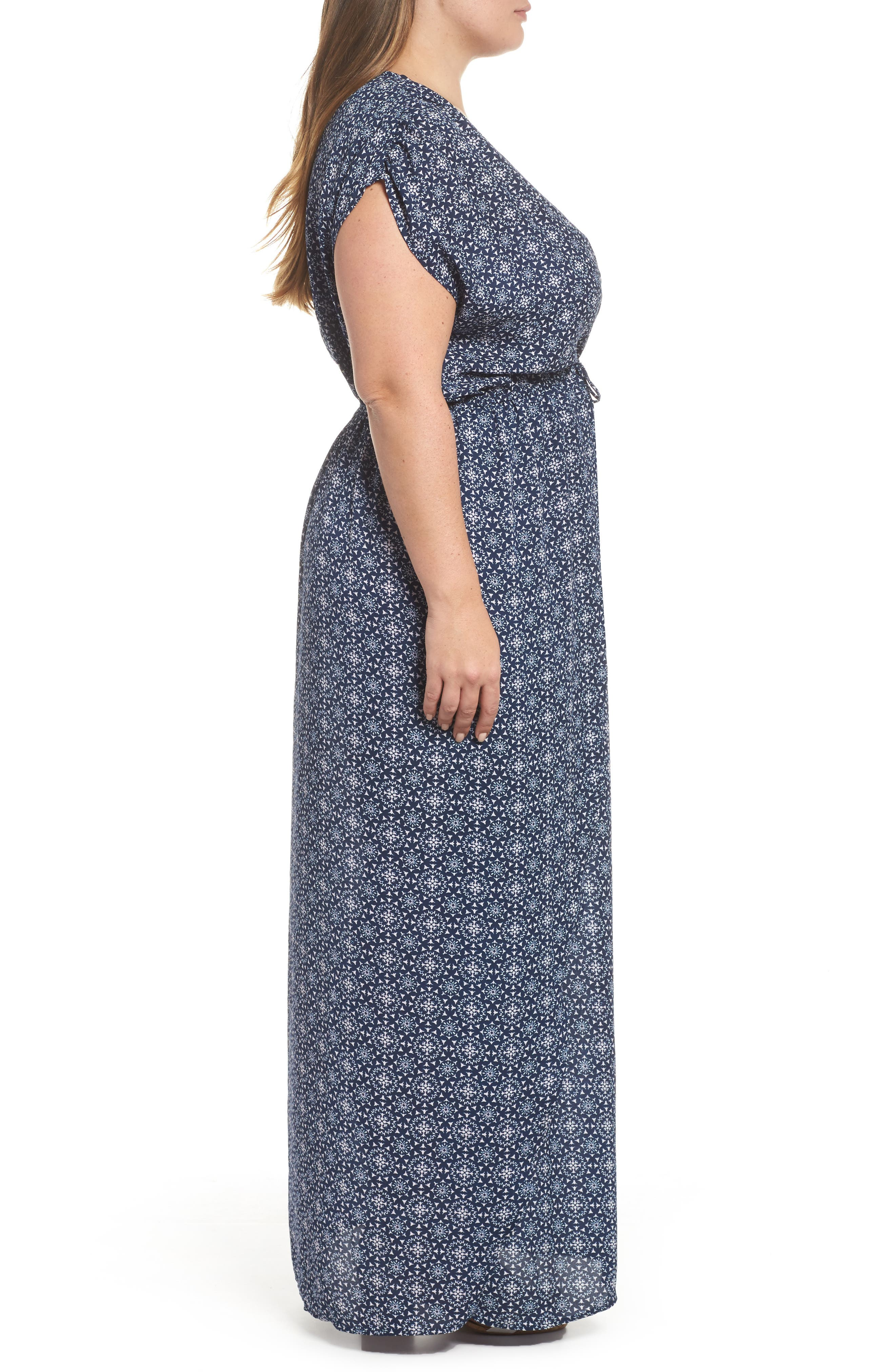 Print Cover-Up Maxi Dress,                             Alternate thumbnail 3, color,                             412