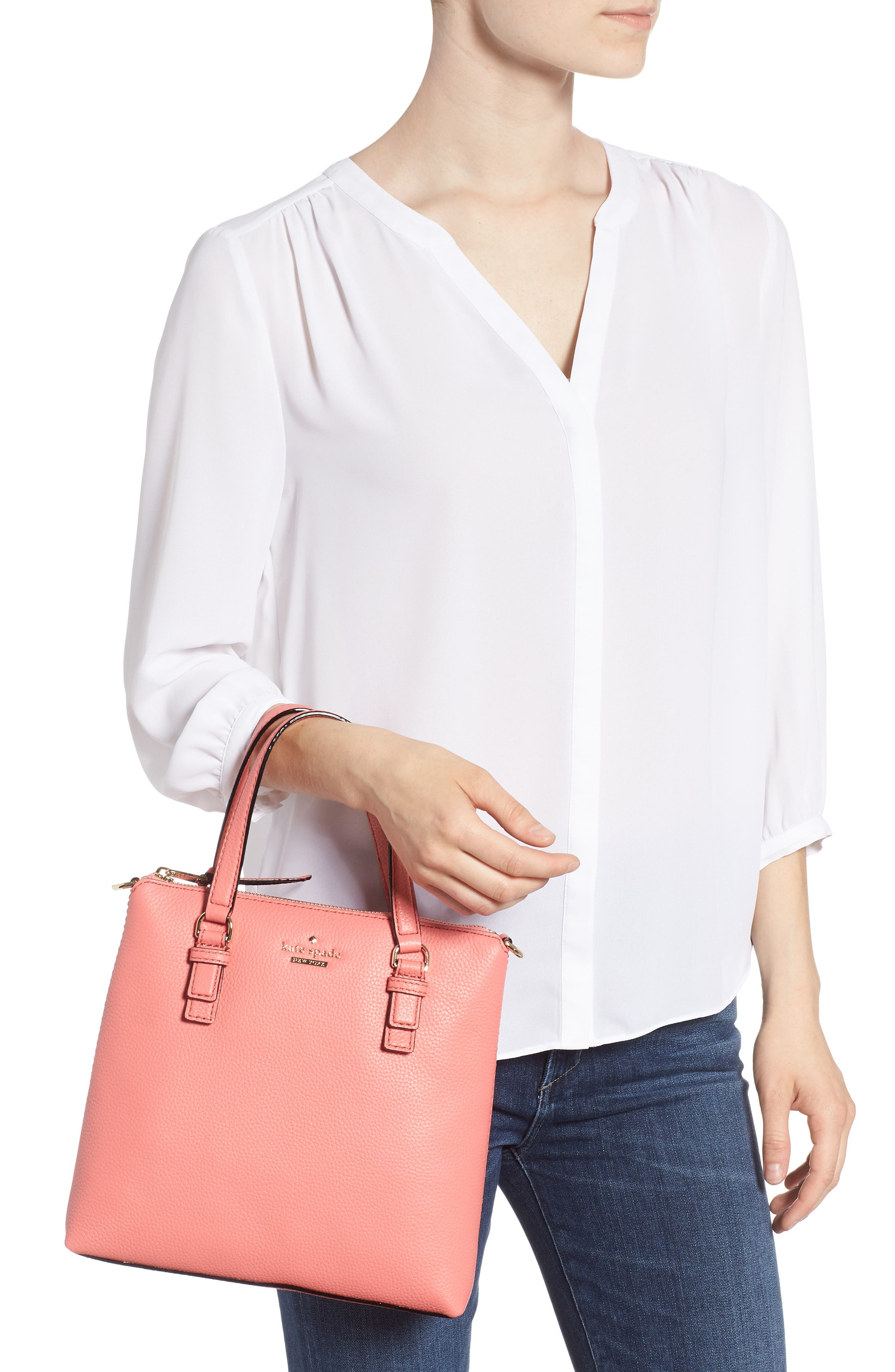 jackson street - hayley leather satchel,                             Alternate thumbnail 2, color,                             897