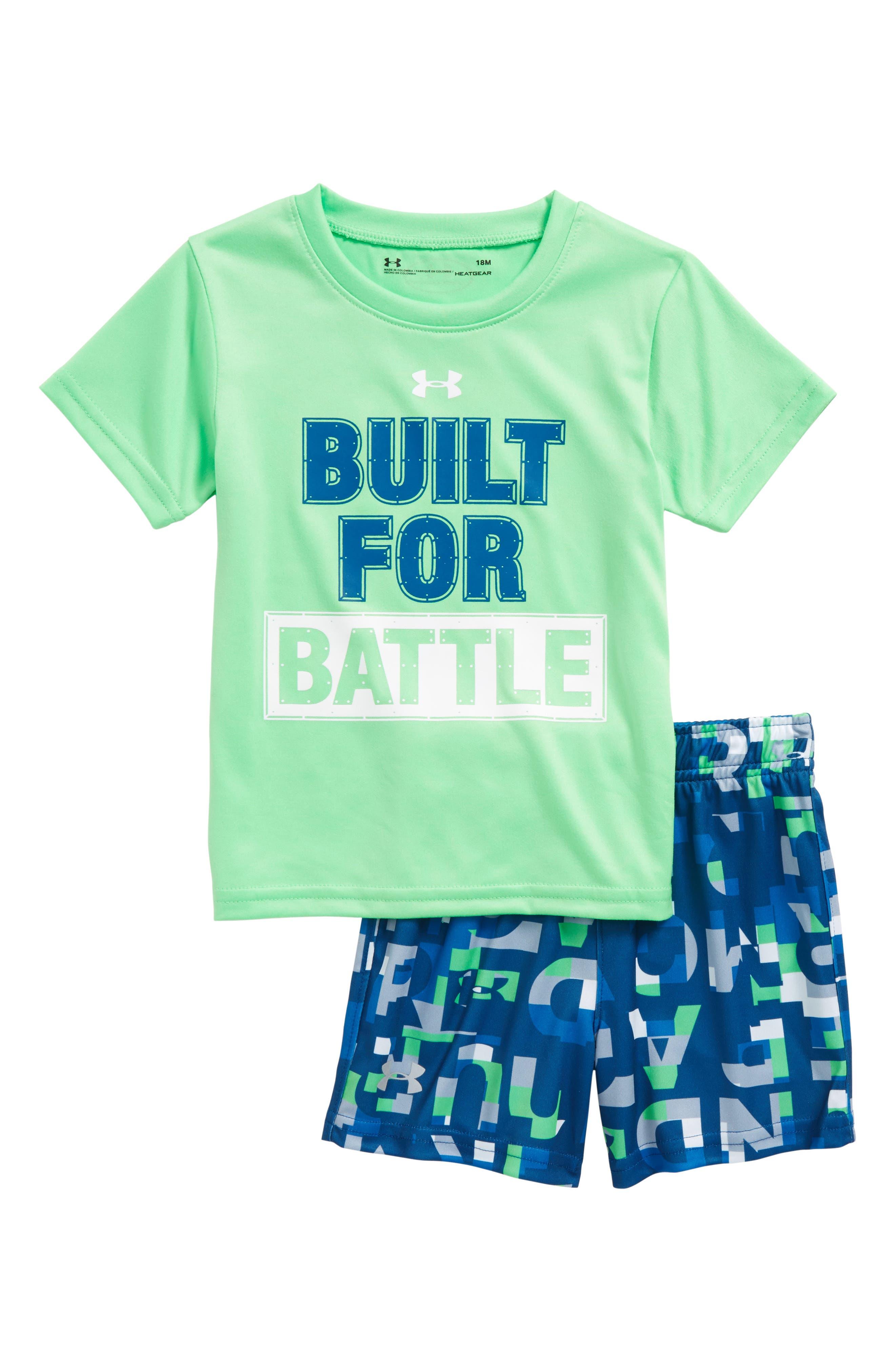 Built for Battle T-Shirt & Shorts Set,                         Main,                         color, 320