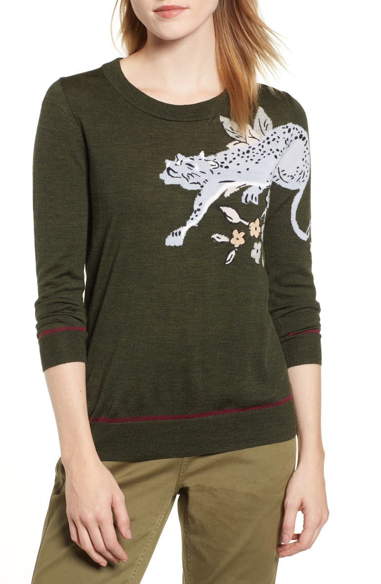 Intarsia Cheetah Sweater | Nordstrom