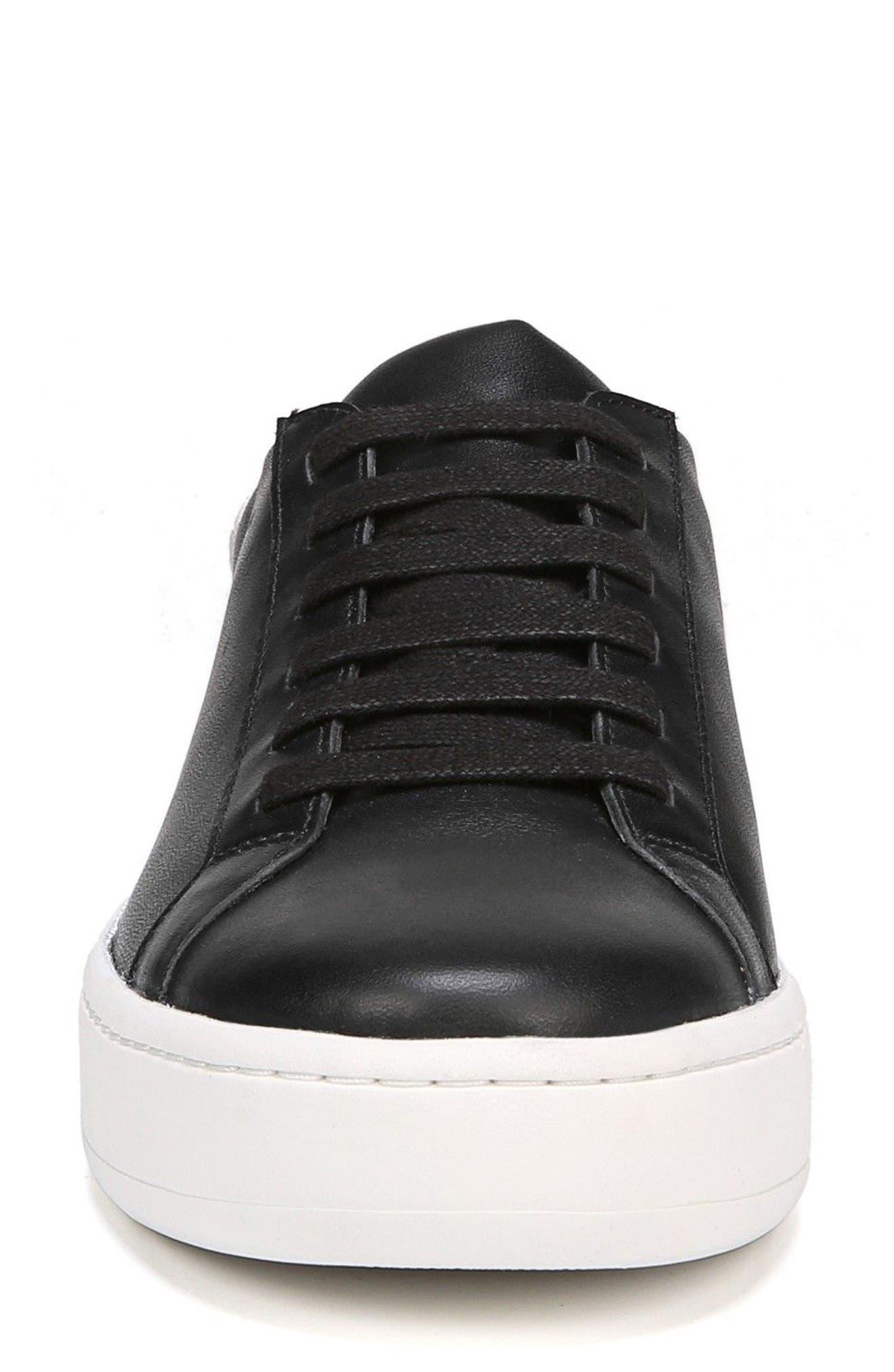 Rylen Platform Sneaker,                             Alternate thumbnail 4, color,                             BLACK/ BLACK/ WHITE LEATHER