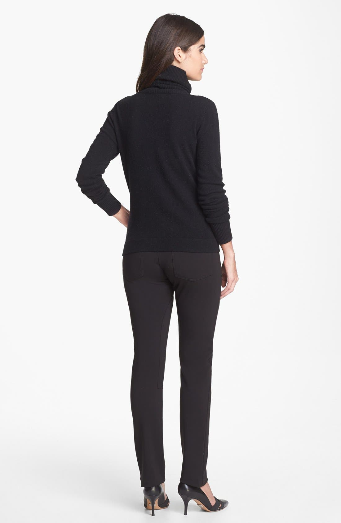 'Slogan' Wool & Cashmere Sweater,                             Alternate thumbnail 5, color,                             001