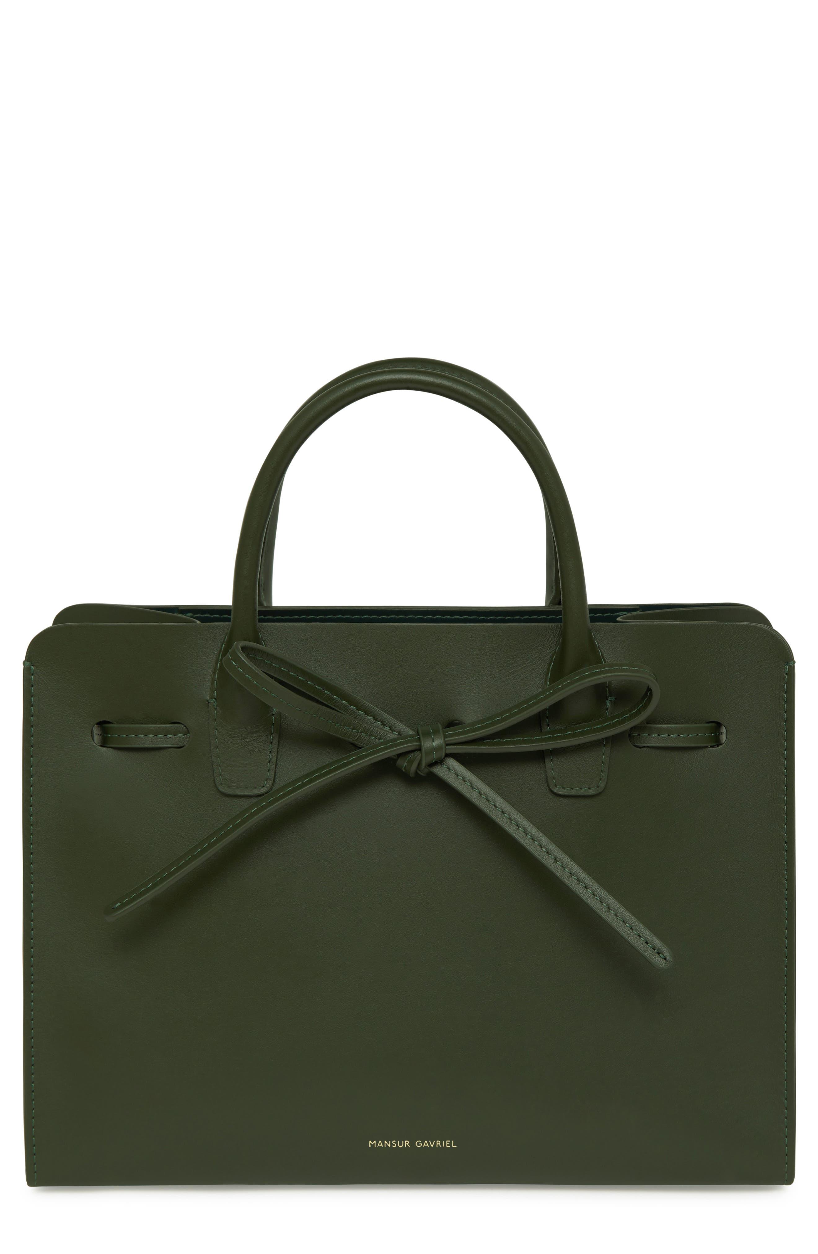 Mini Sun Leather Bag - Green in Moss