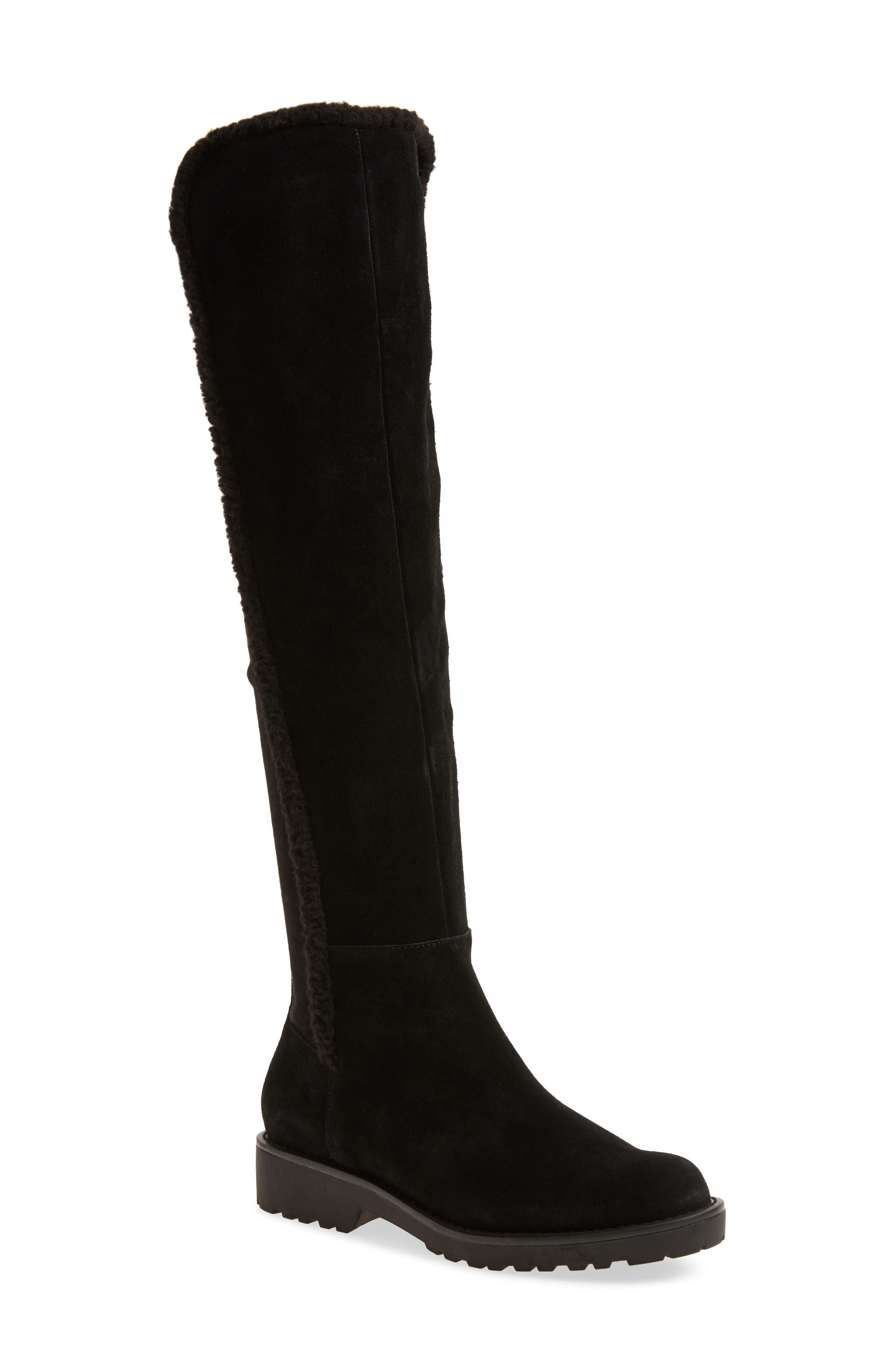 Juno Faux Shearling Trim Boot,                         Main,                         color, 001
