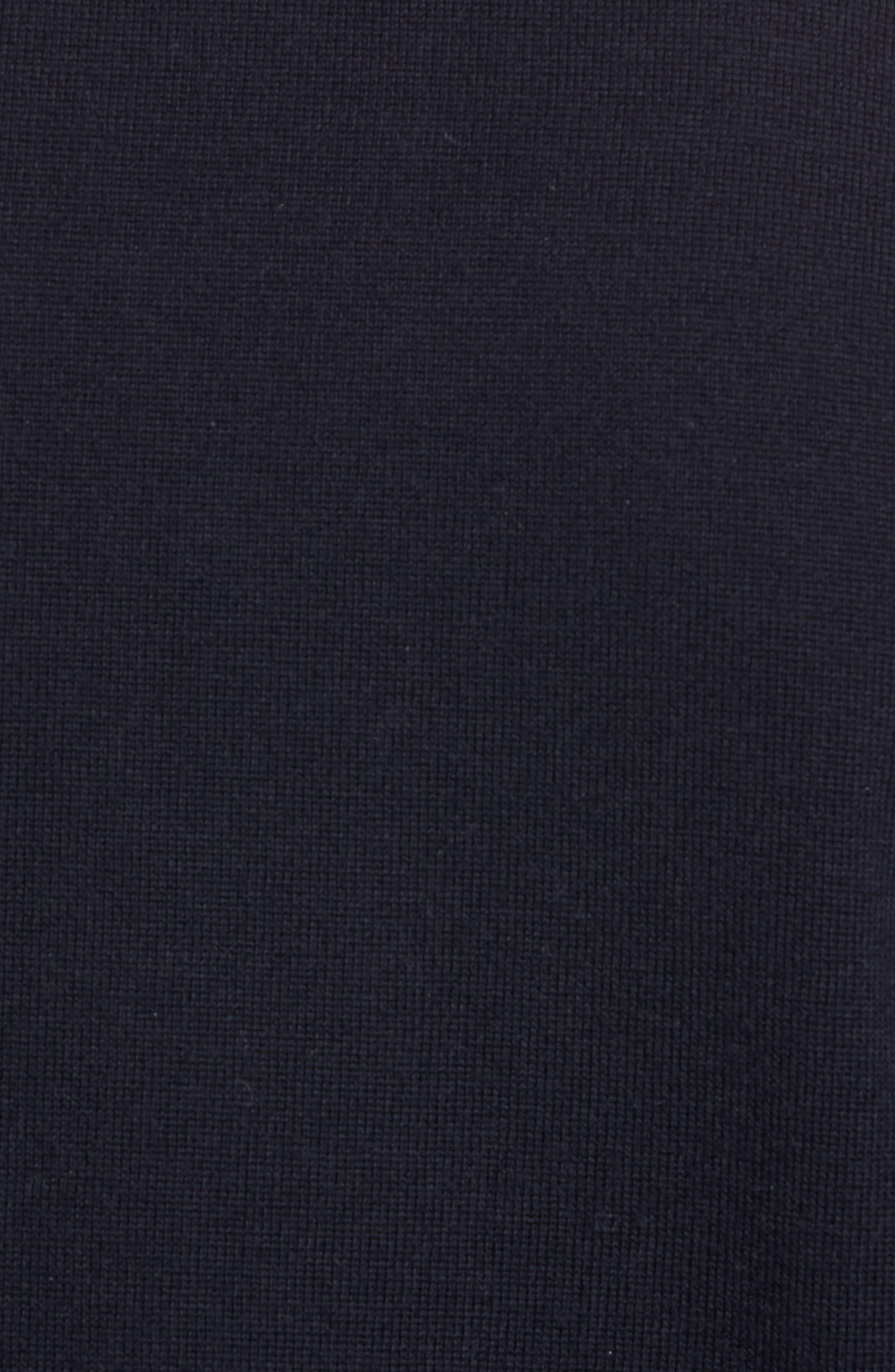 Raw Seam Merino Wool Sweater,                             Alternate thumbnail 5, color,                             NEW COASTAL