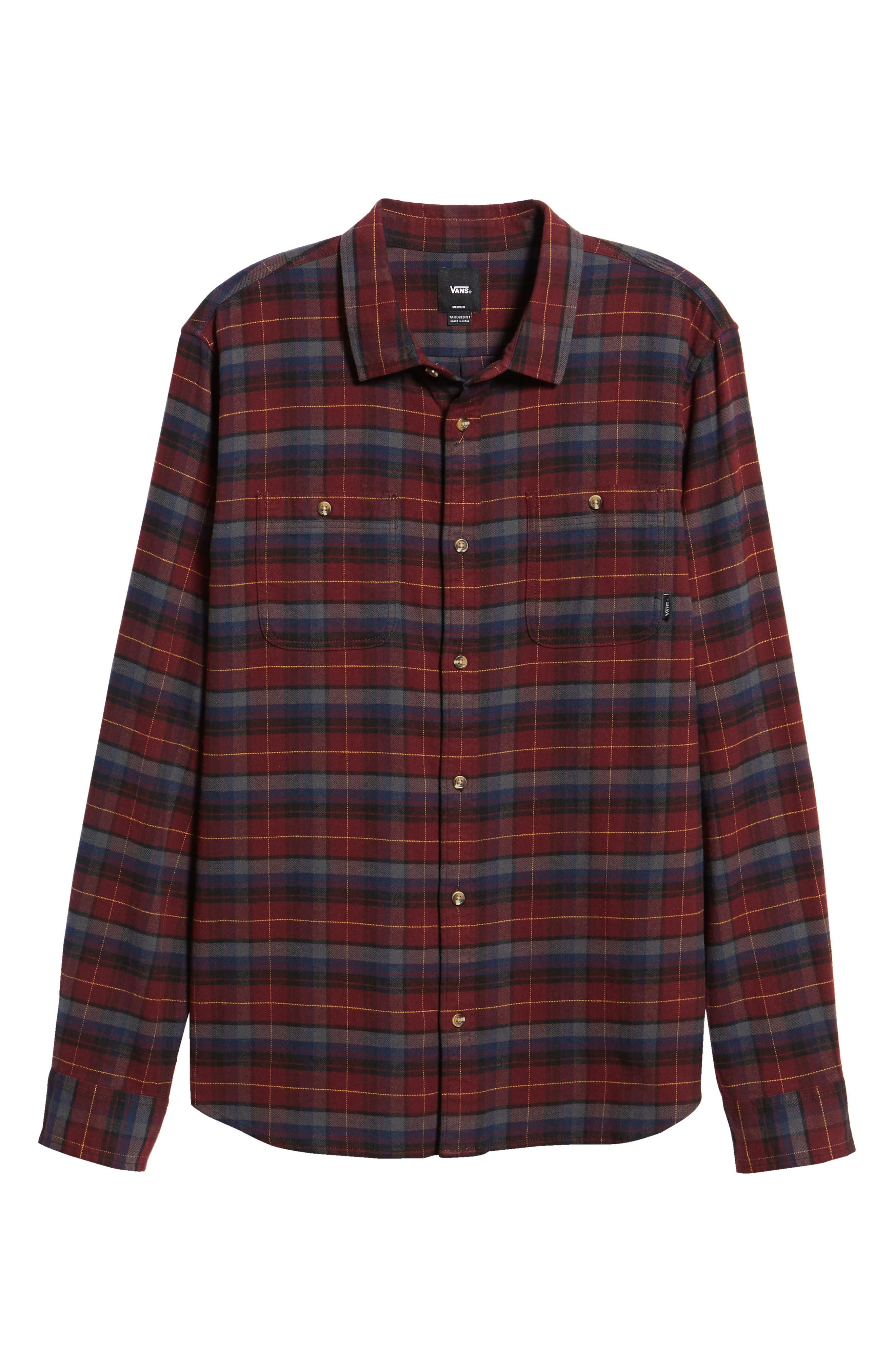 Banfield III Plaid Flannel Shirt,                             Alternate thumbnail 5, color,                             930