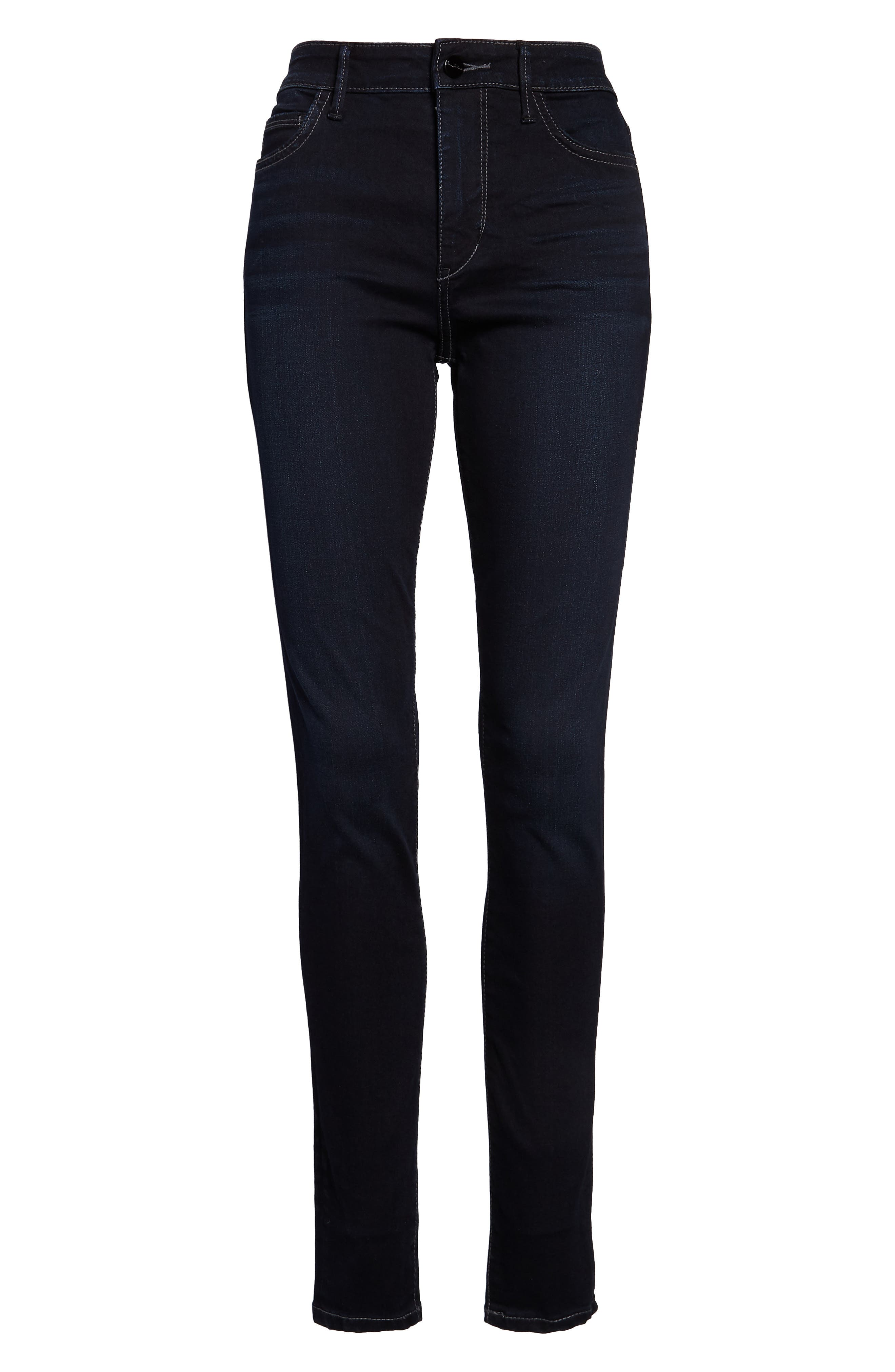 Stiletto High Rise Skinny Jeans,                             Alternate thumbnail 4, color,                             BRONWYN
