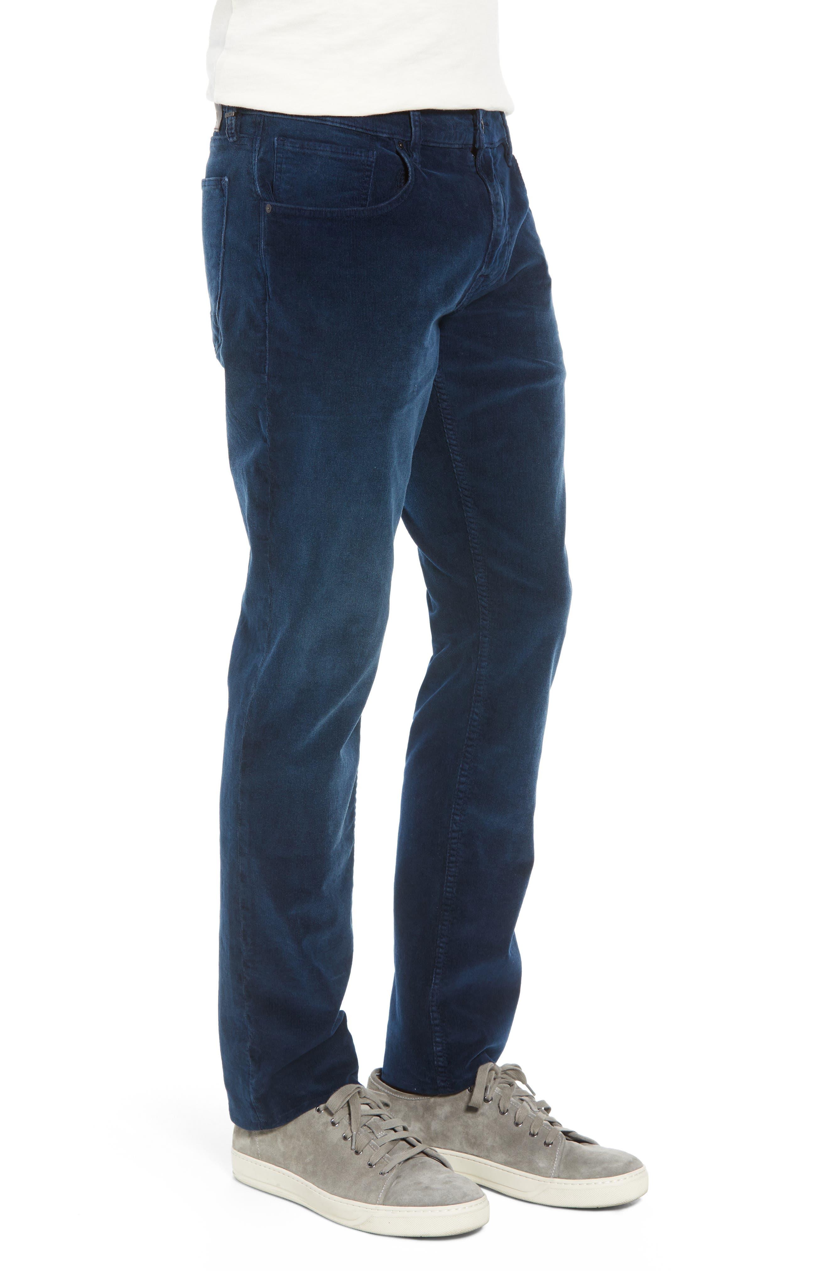 Blake Slim Fit Straight Leg Corduroy Pants,                             Alternate thumbnail 3, color,                             BLACK