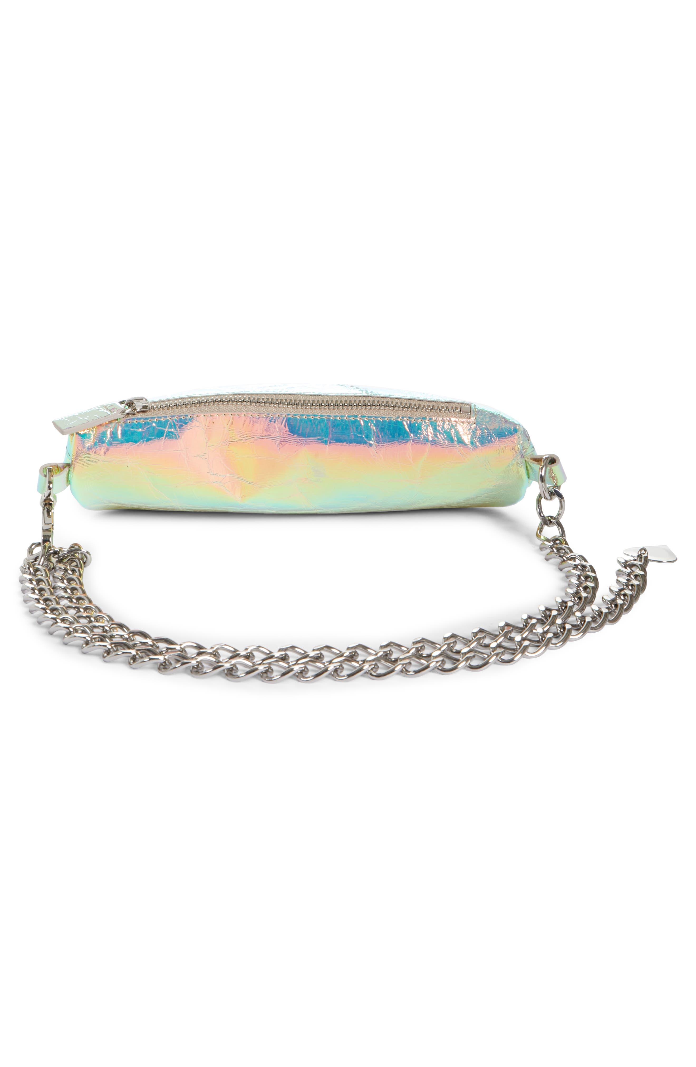 Mini Metallic Troupe Convertible Belt Bag,                             Alternate thumbnail 3, color,                             040