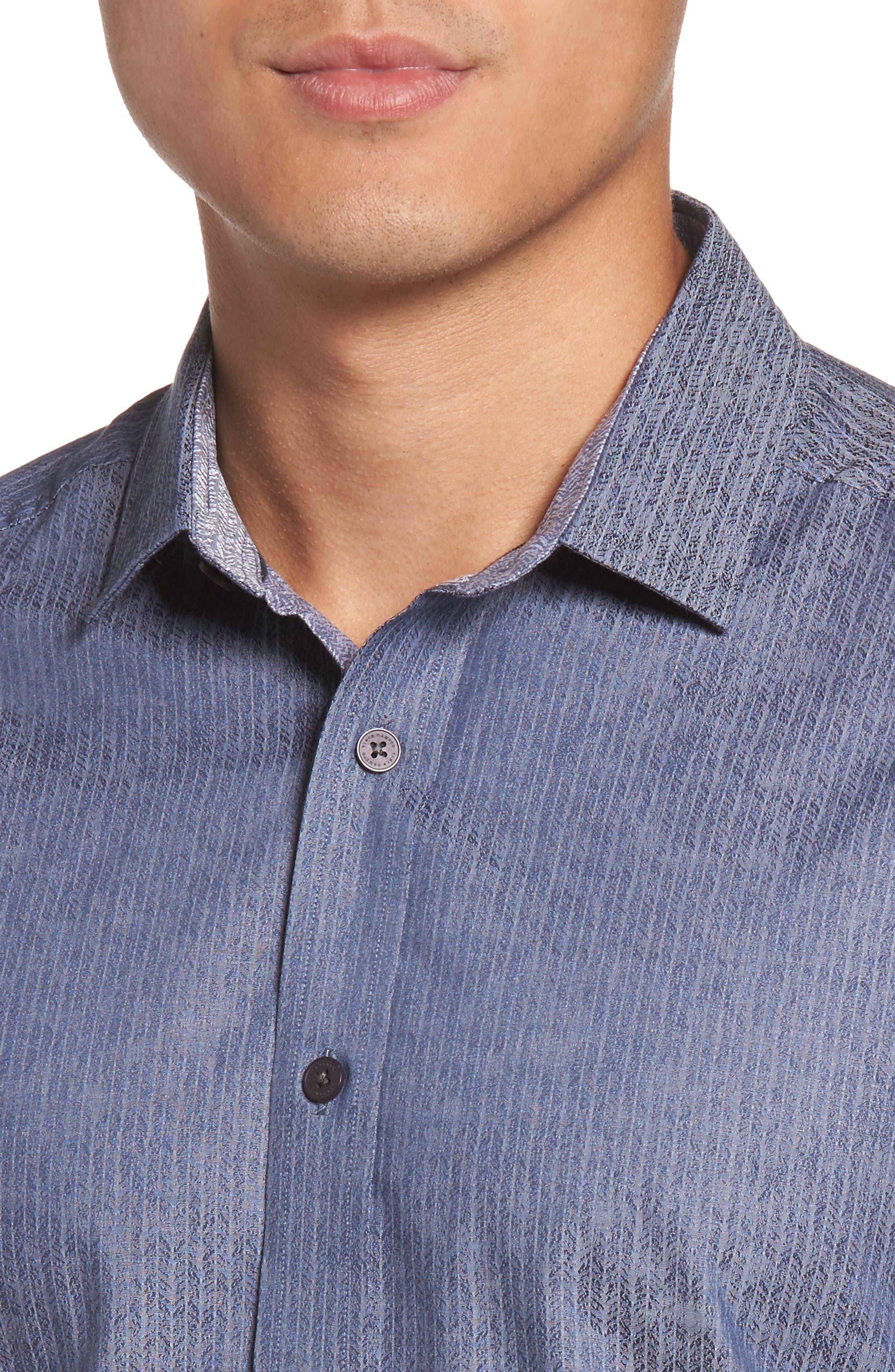 Slim Fit Print Sport Shirt,                             Alternate thumbnail 4, color,                             420