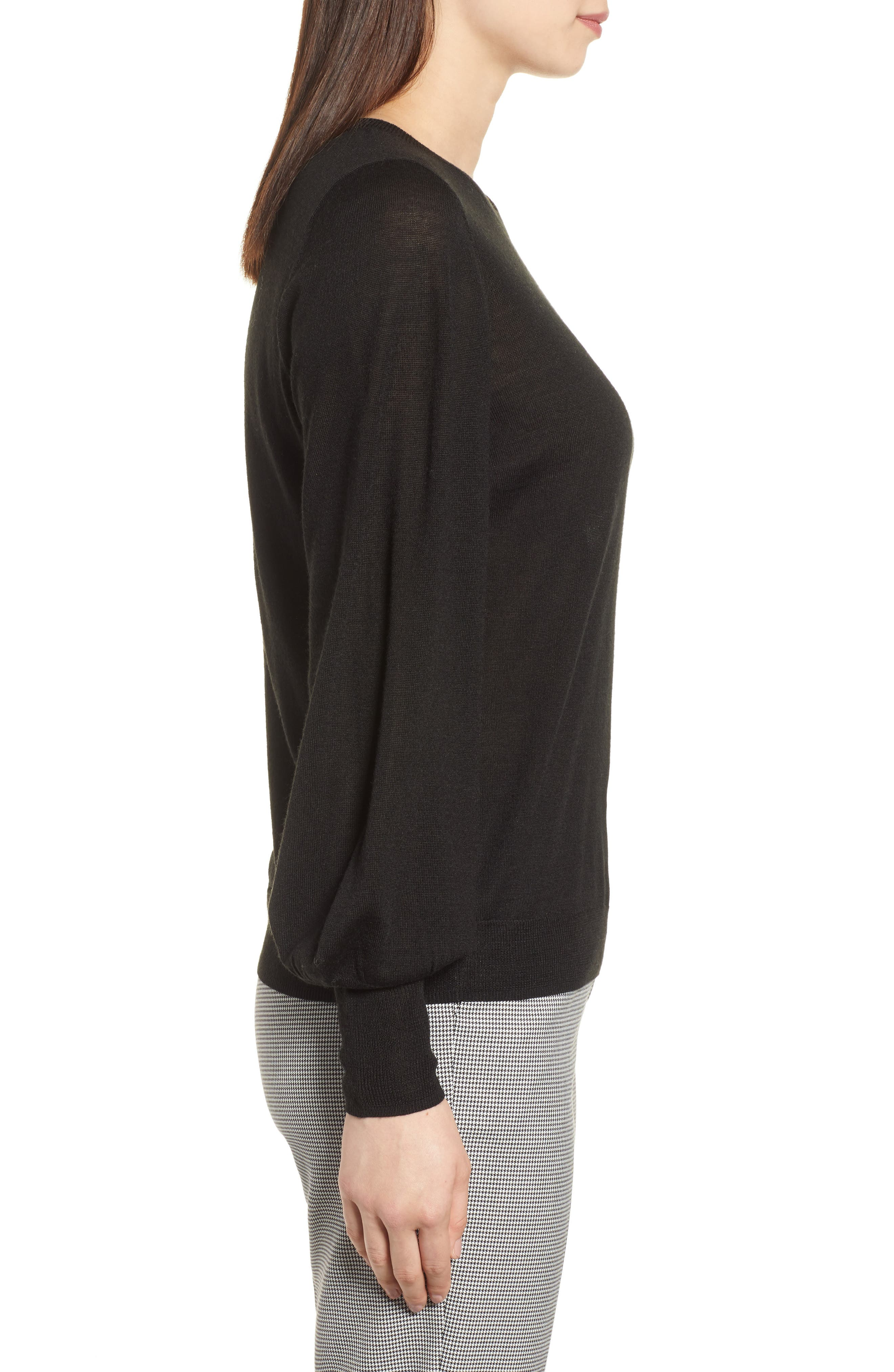 Puff Sleeve Sweater,                             Alternate thumbnail 22, color,