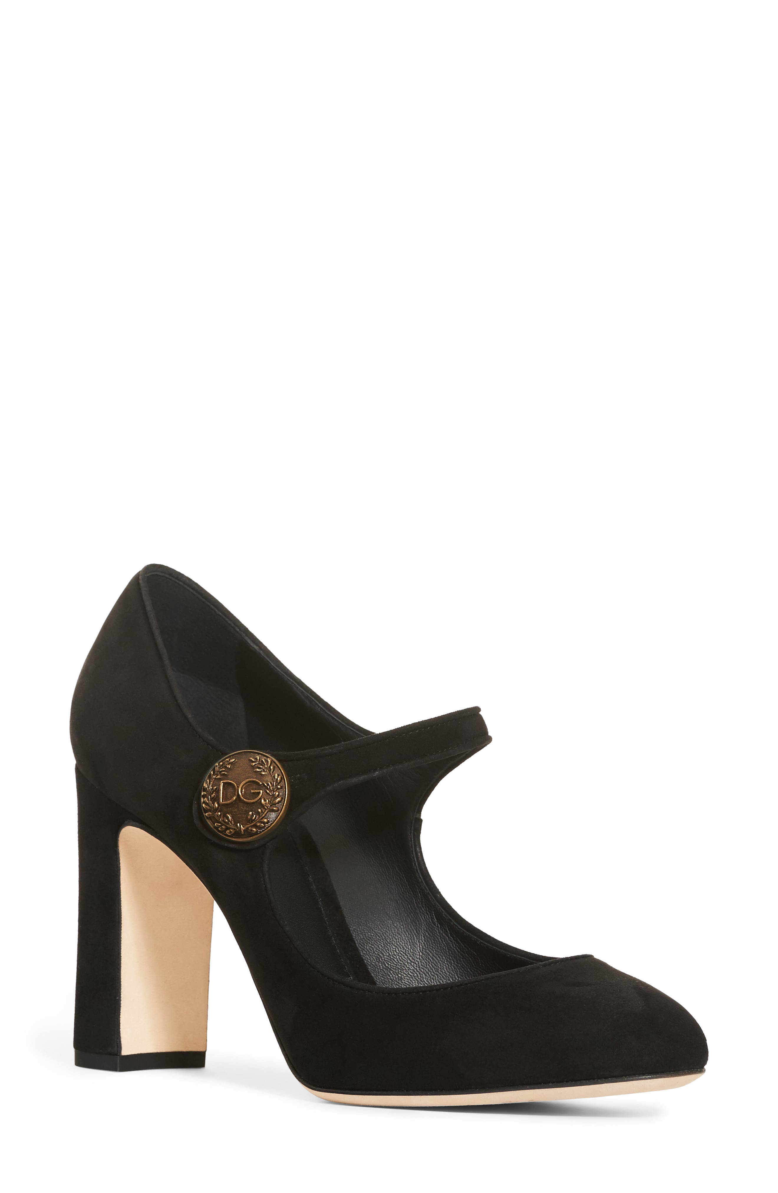 Button Mary Jane Pump,                         Main,                         color, 002