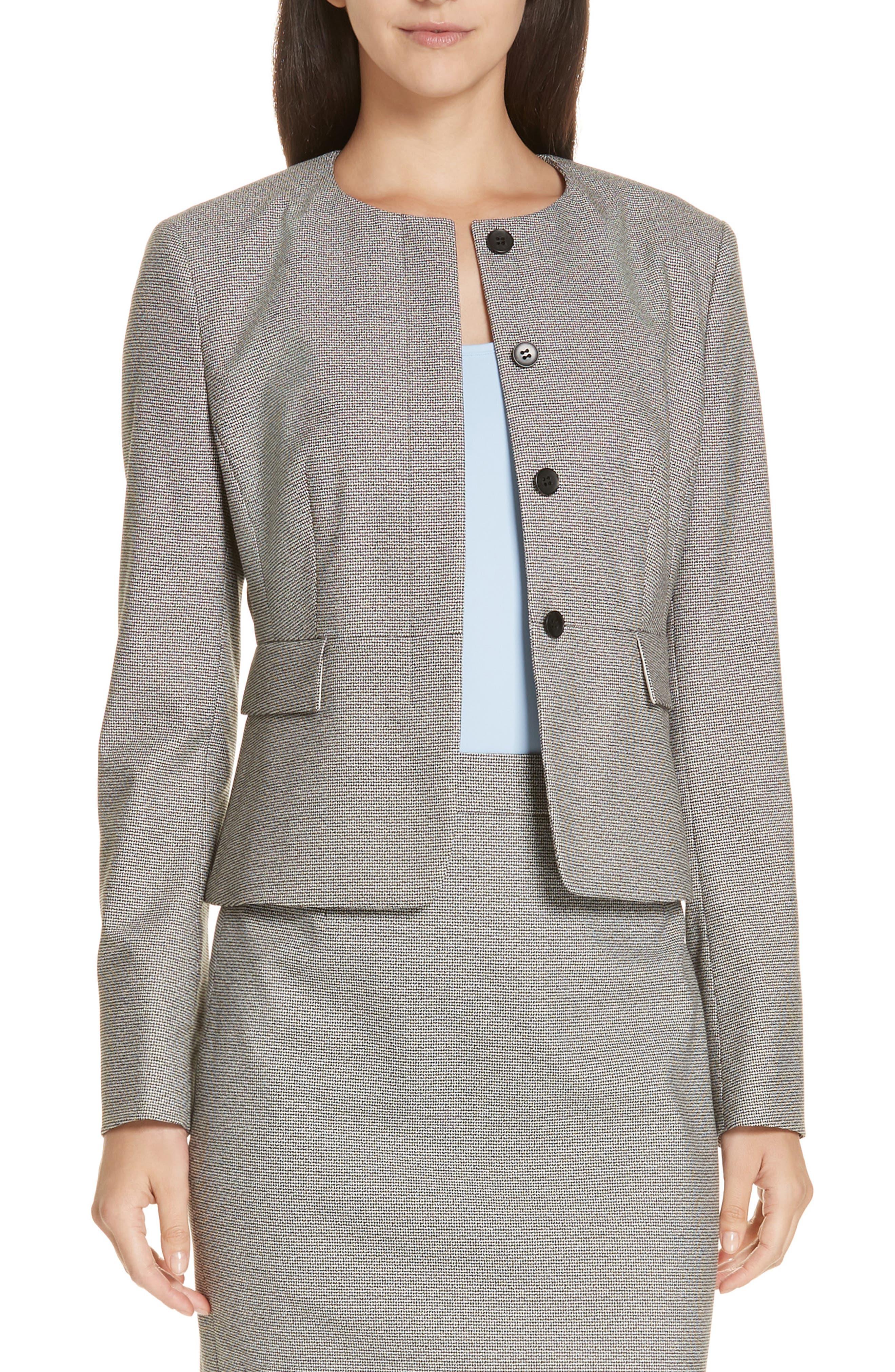 Jokile Suit Jacket,                         Main,                         color, BLACK FANTASY