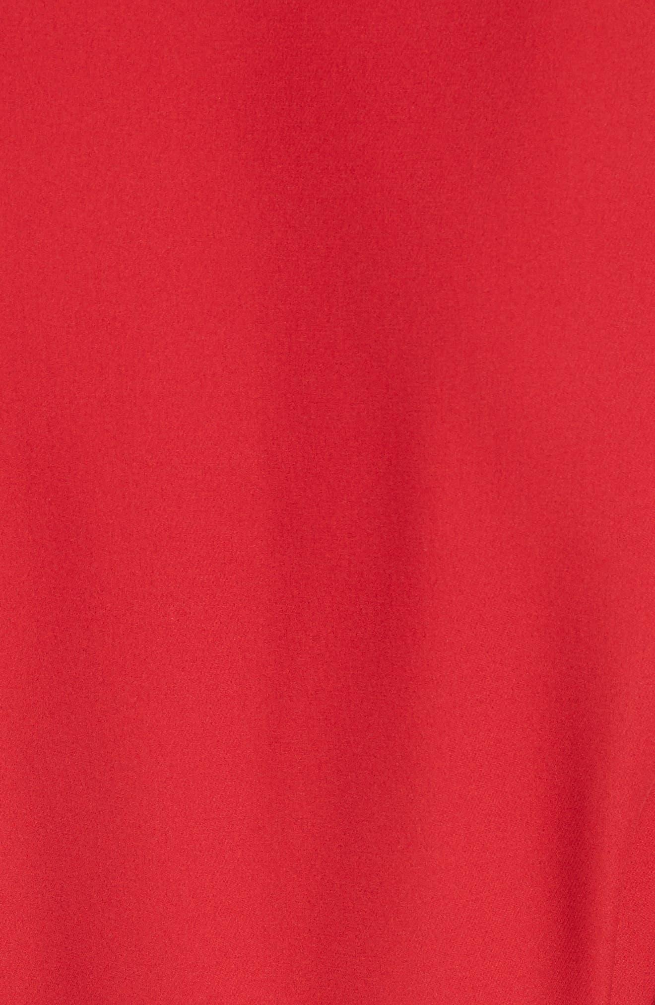 Tie Waist Silk Dress,                             Alternate thumbnail 5, color,