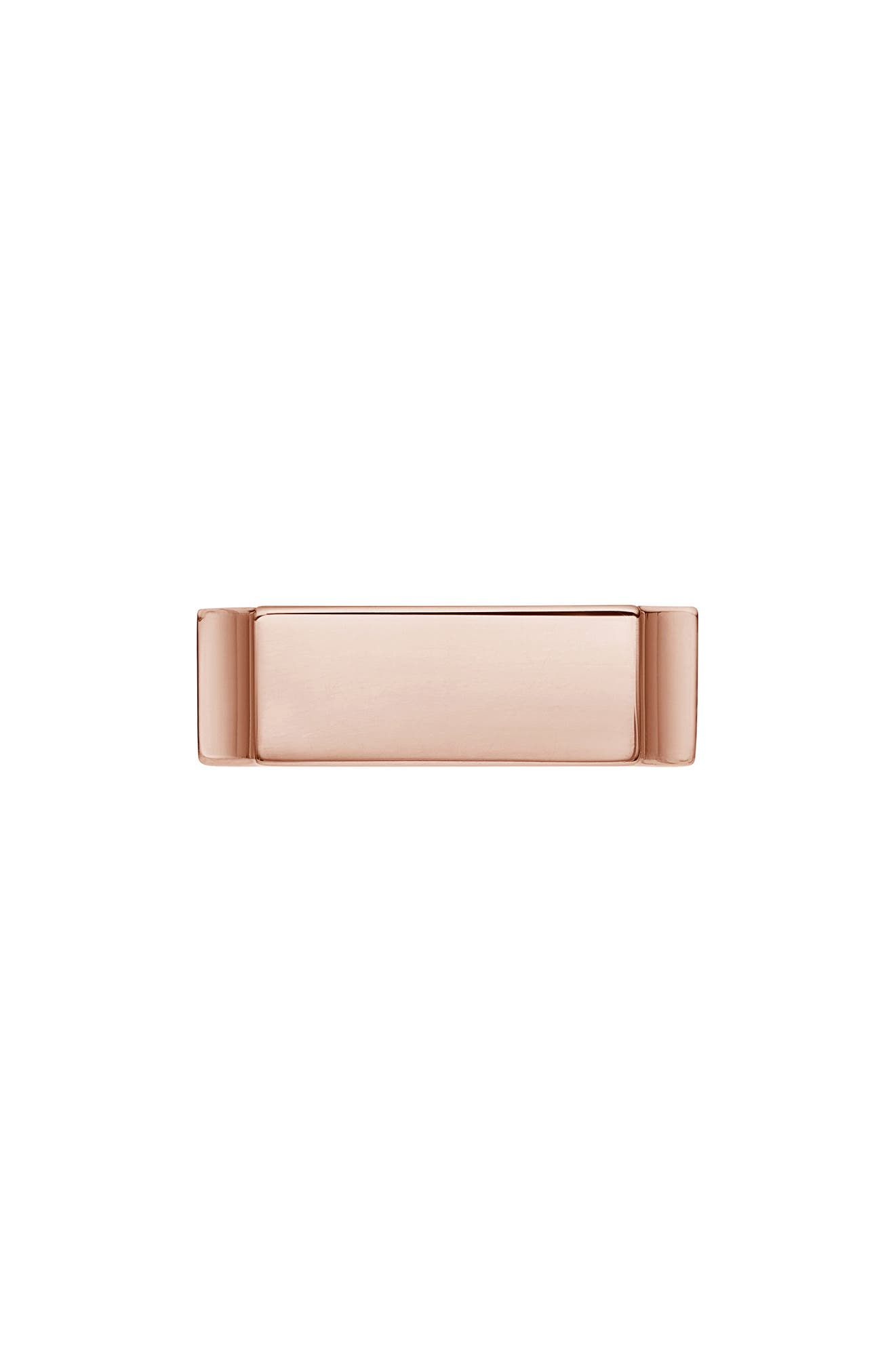 Engravable Wide Signature Ring,                         Main,                         color, ROSE GOLD