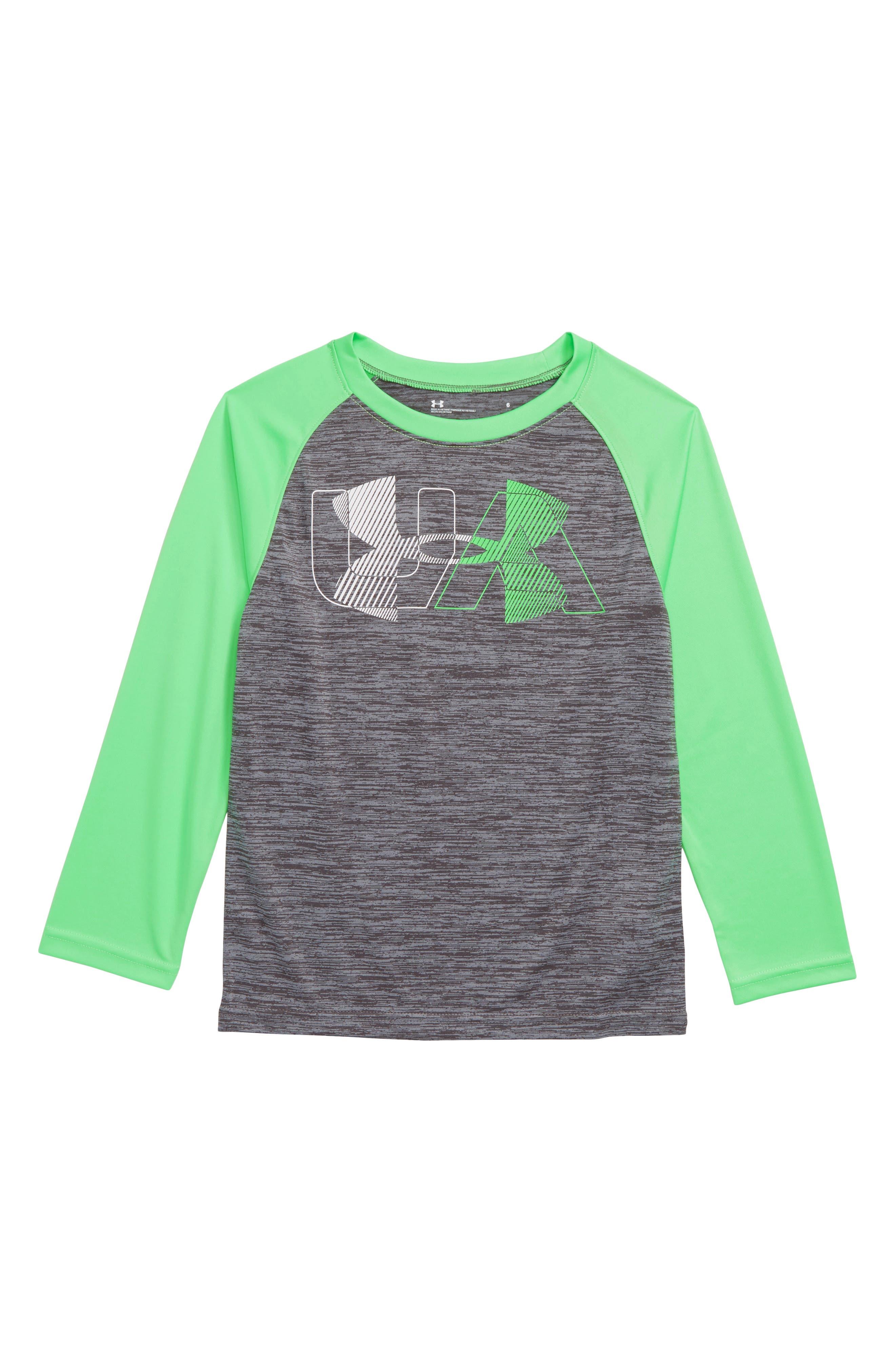 Boys Under Armour Linear Logo Twist Raglan Shirt