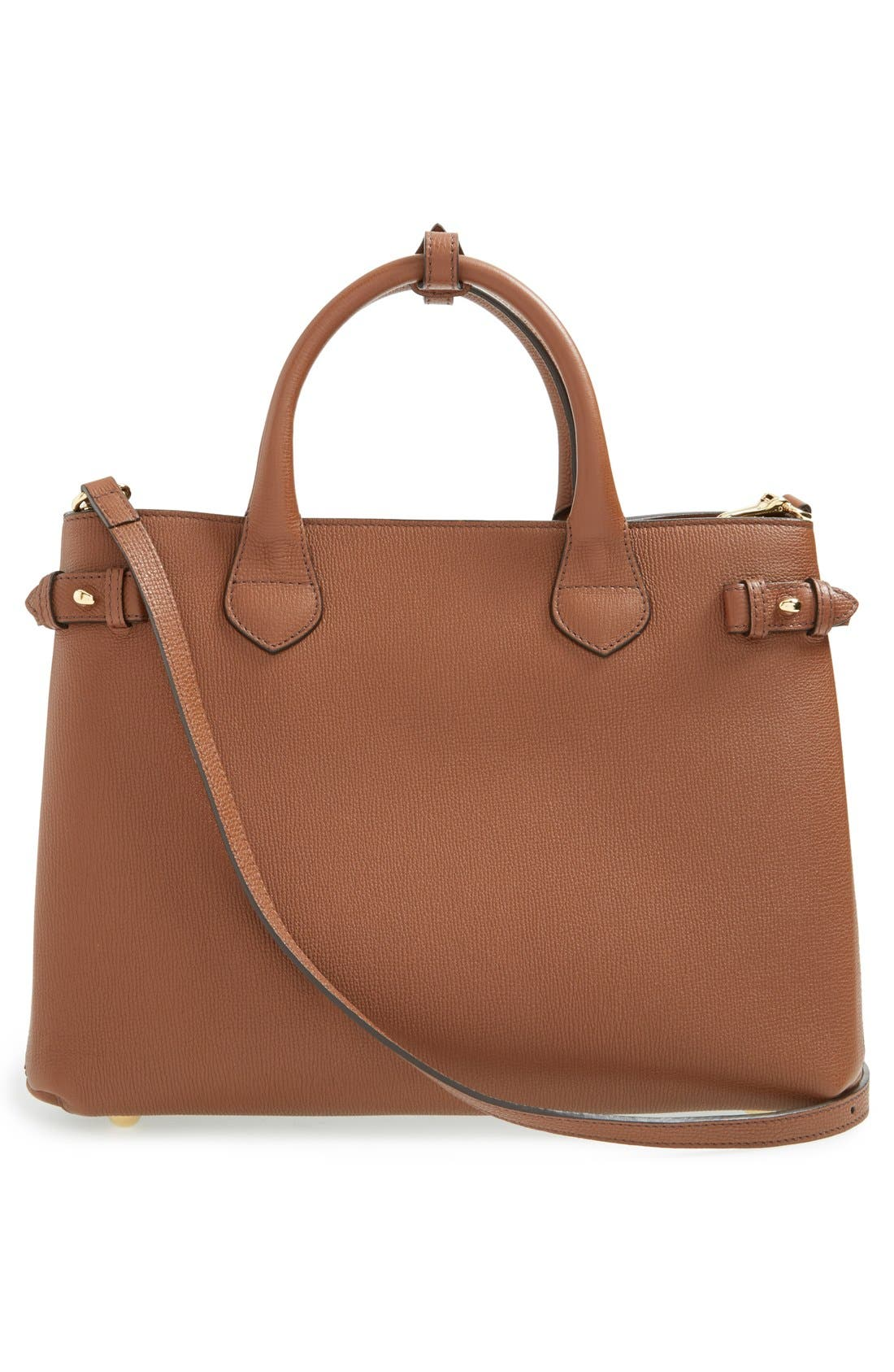 Medium Banner Leather Tote,                             Alternate thumbnail 6, color,                             250