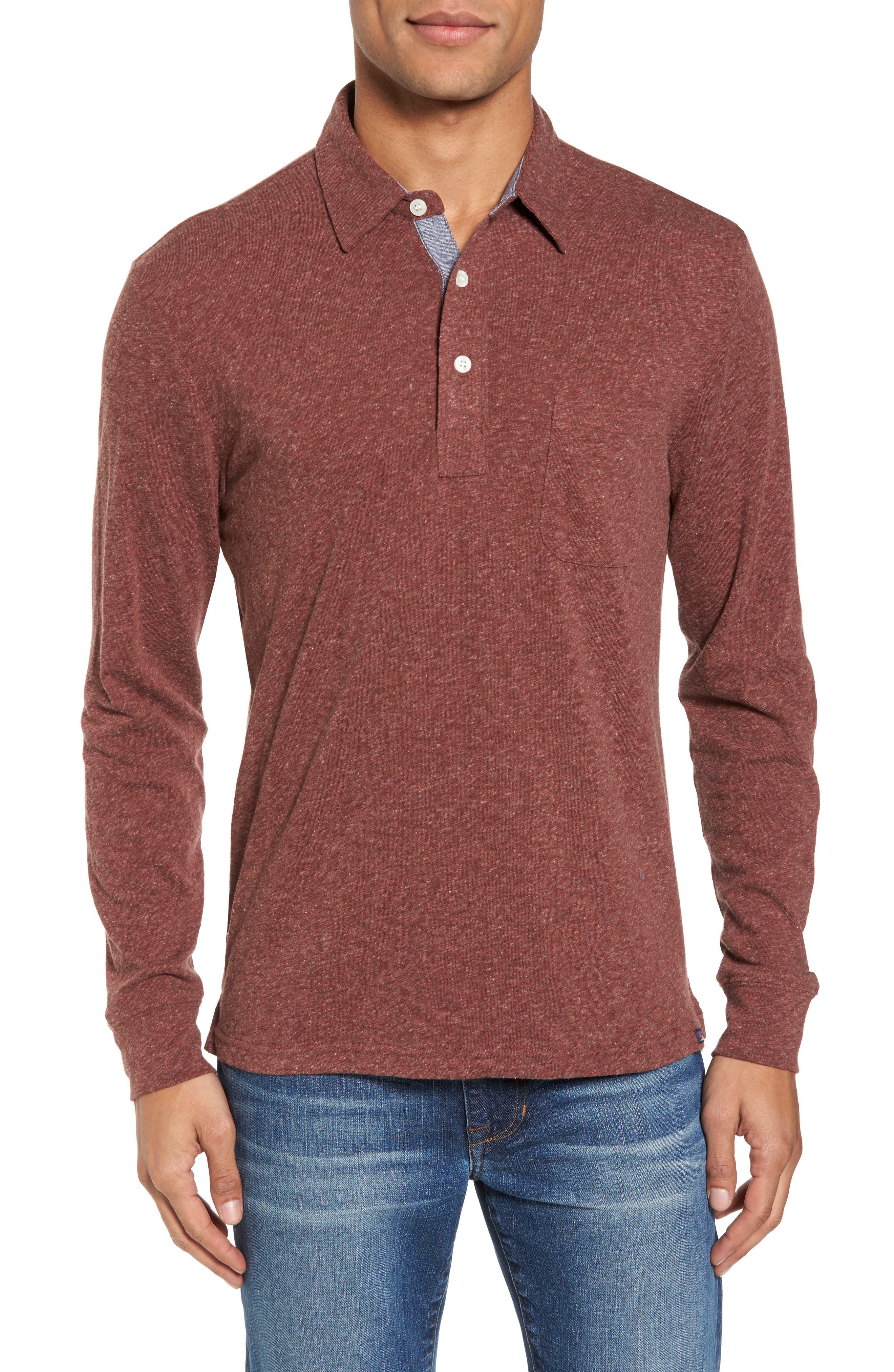 Long Sleeve Polo,                         Main,                         color, 930