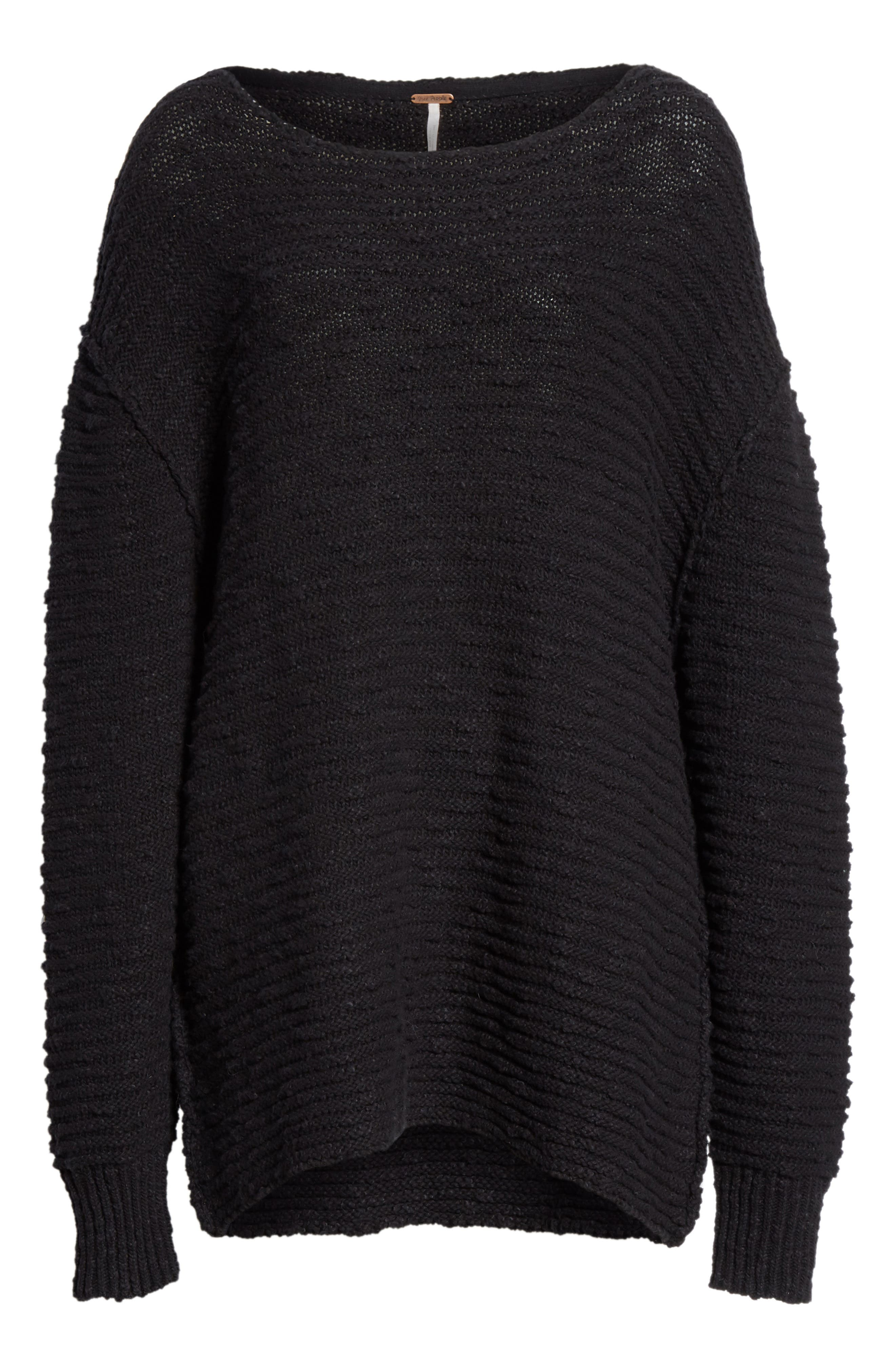 Menace Solid Tunic Sweater,                             Alternate thumbnail 6, color,                             001