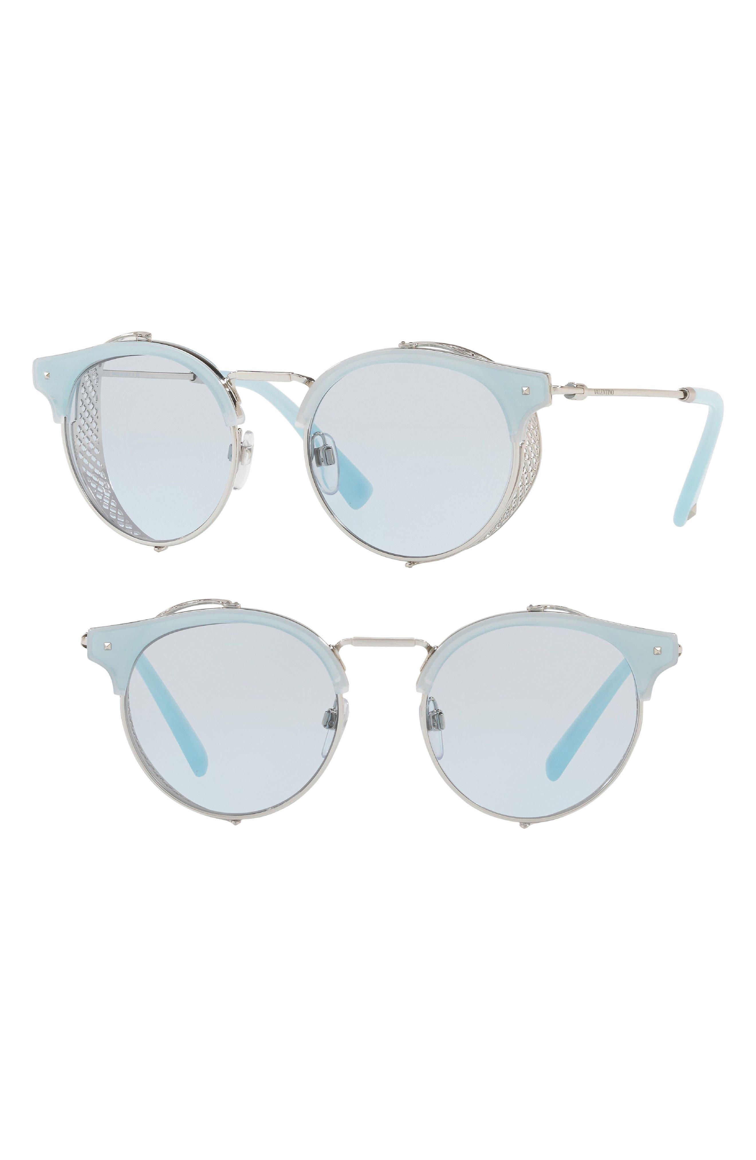 51mm Round Sunglasses,                         Main,                         color, 001