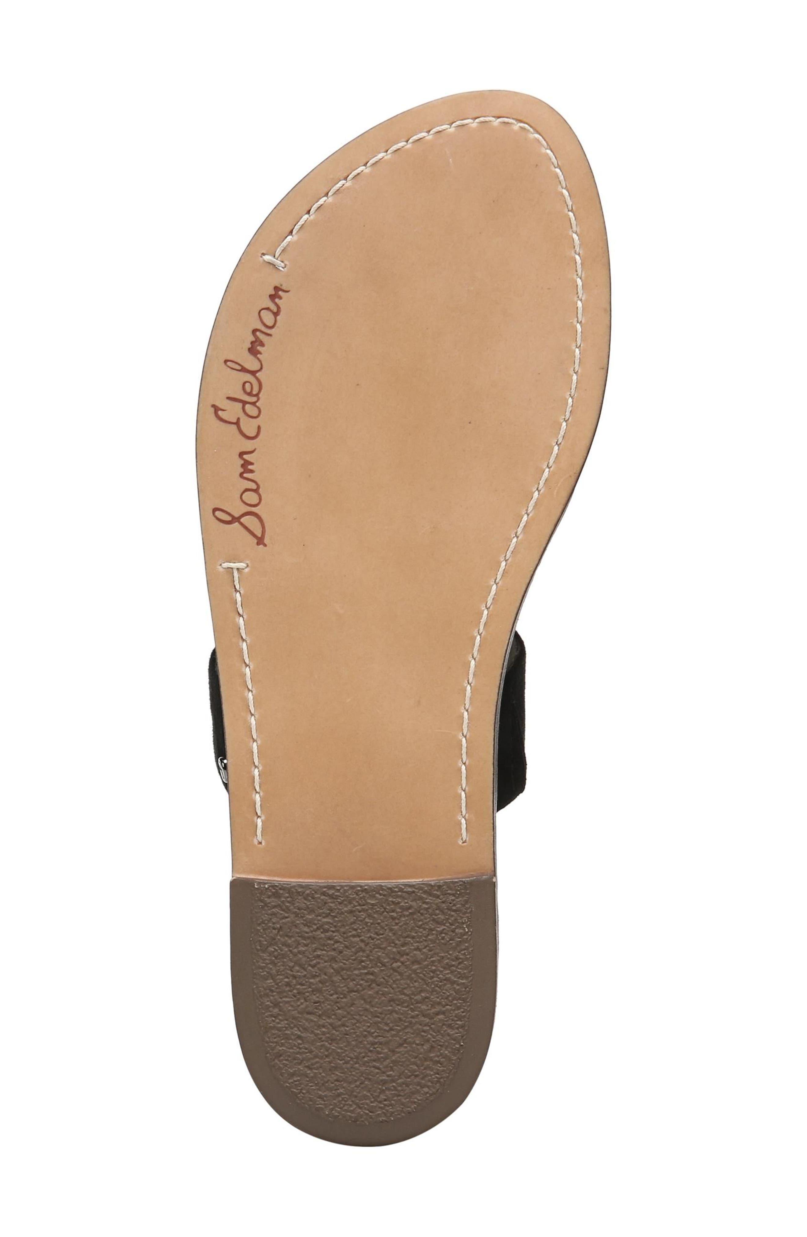 Gala Two Strap Slide Sandal,                             Alternate thumbnail 6, color,                             BLACK SUEDE