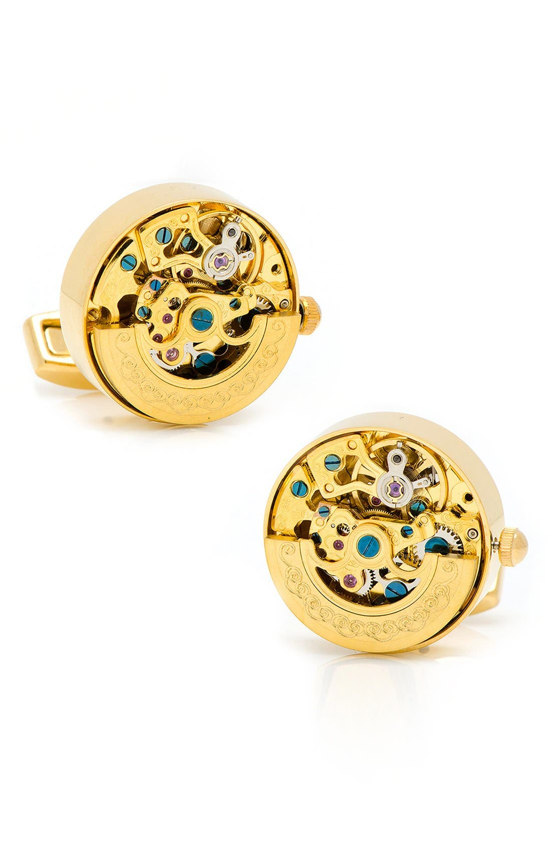 'Kinetic Watch' Cuff Links,                             Main thumbnail 3, color,