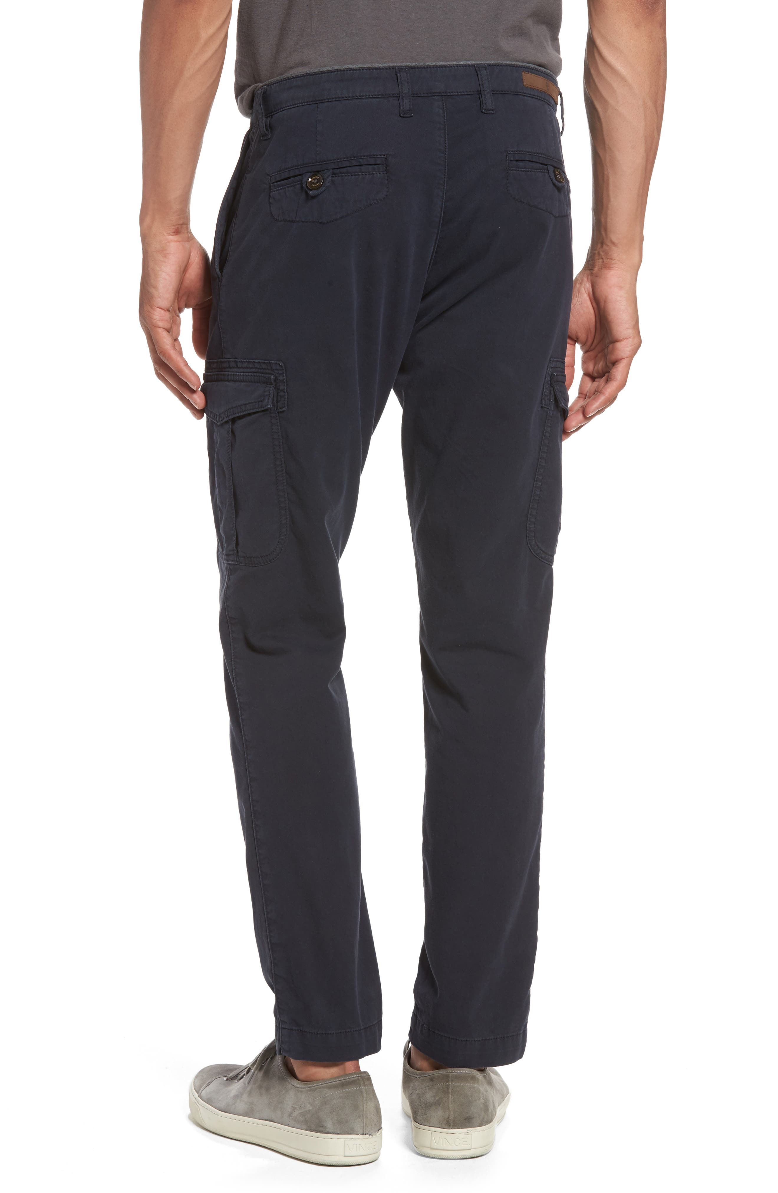 Stretch Cotton Cargo Pants,                             Alternate thumbnail 2, color,                             NAVY