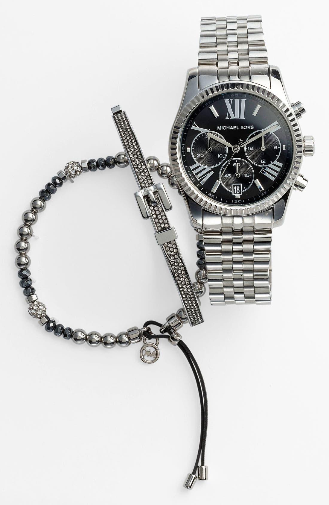 'Lexington' Chronograph Bracelet Watch, 38mm,                             Alternate thumbnail 15, color,