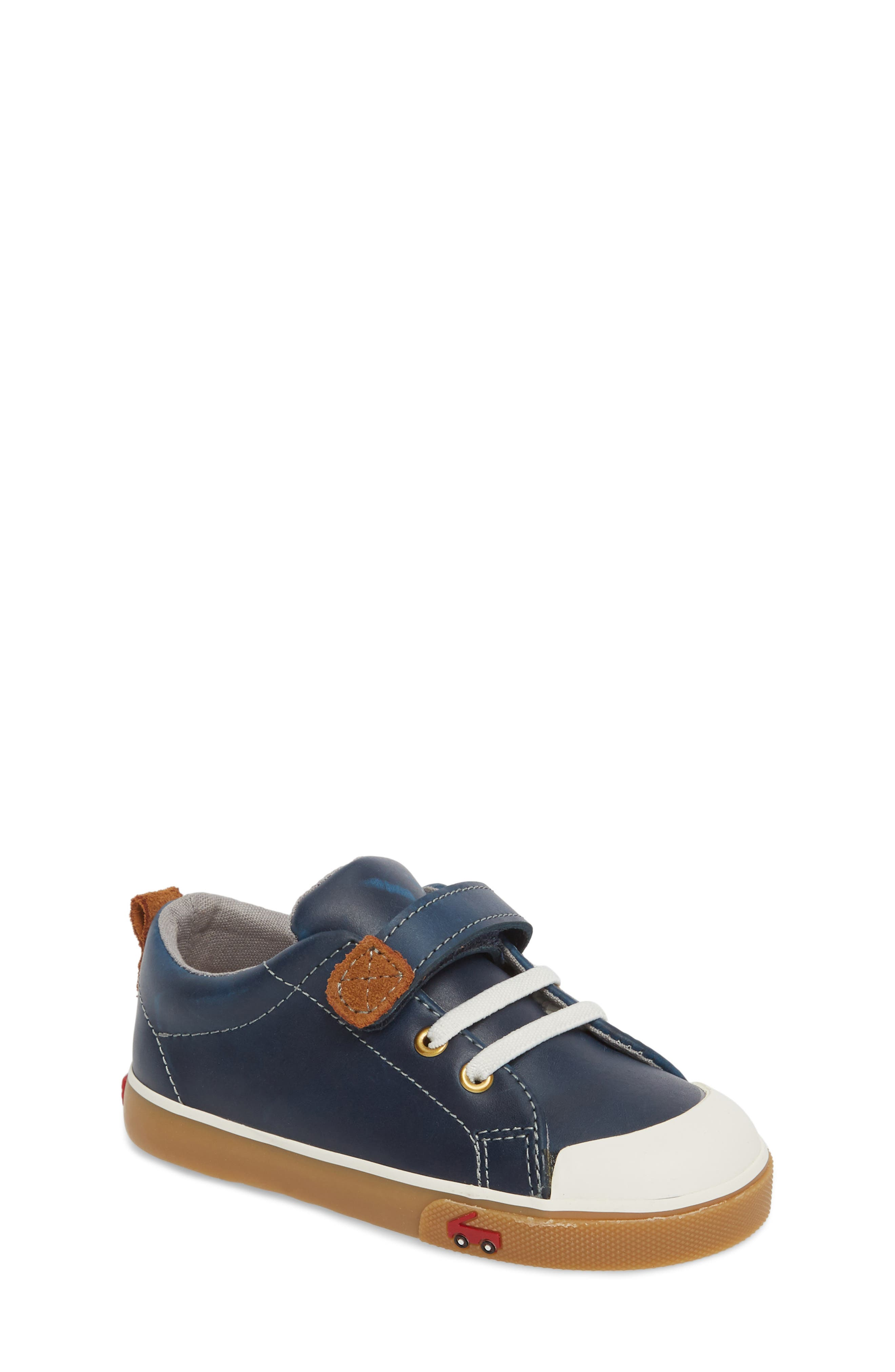Stevie II Sneaker,                         Main,                         color, NAVY LEATHER