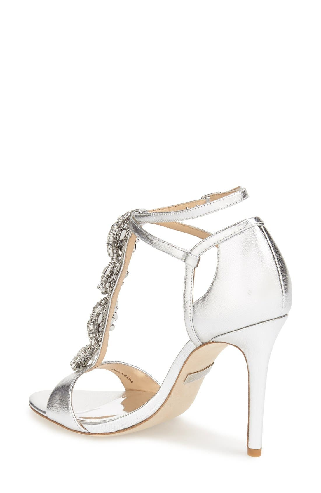 BADGLEY MISCHKA COLLECTION,                             Badgley Mischka 'Leigh' Embellished Evening Sandal,                             Alternate thumbnail 2, color,                             046