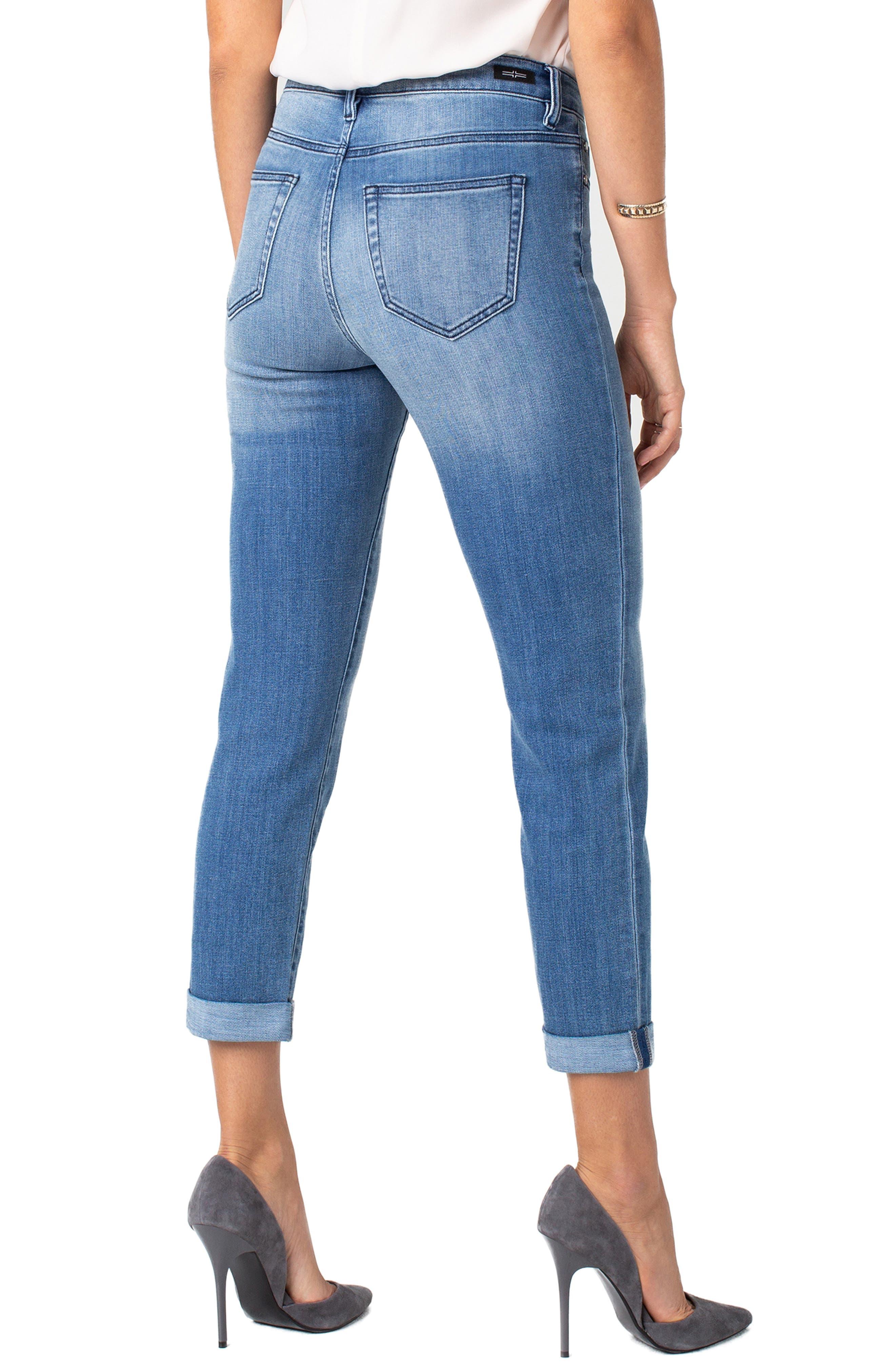 LIVERPOOL,                             Marley High Waist Girlfriend Jeans,                             Alternate thumbnail 2, color,                             CRESTLAKE