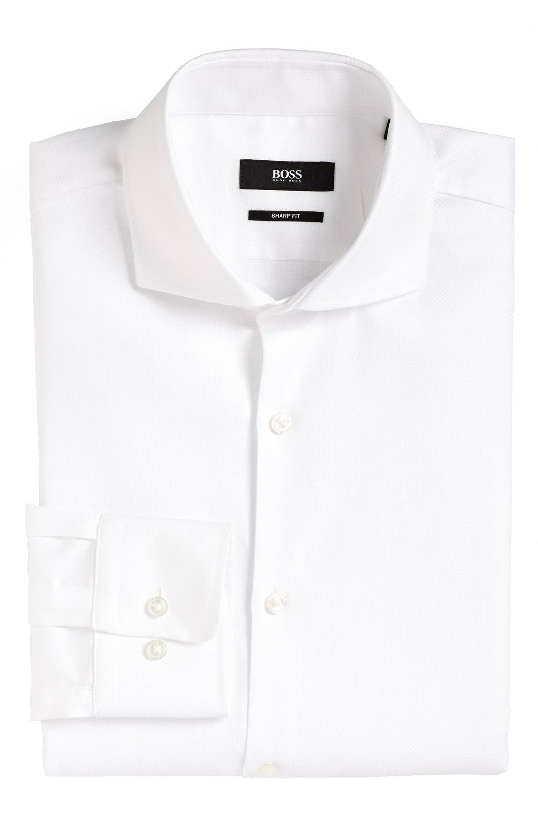Sharp Fit Dress Shirt,                             Main thumbnail 1, color,                             100