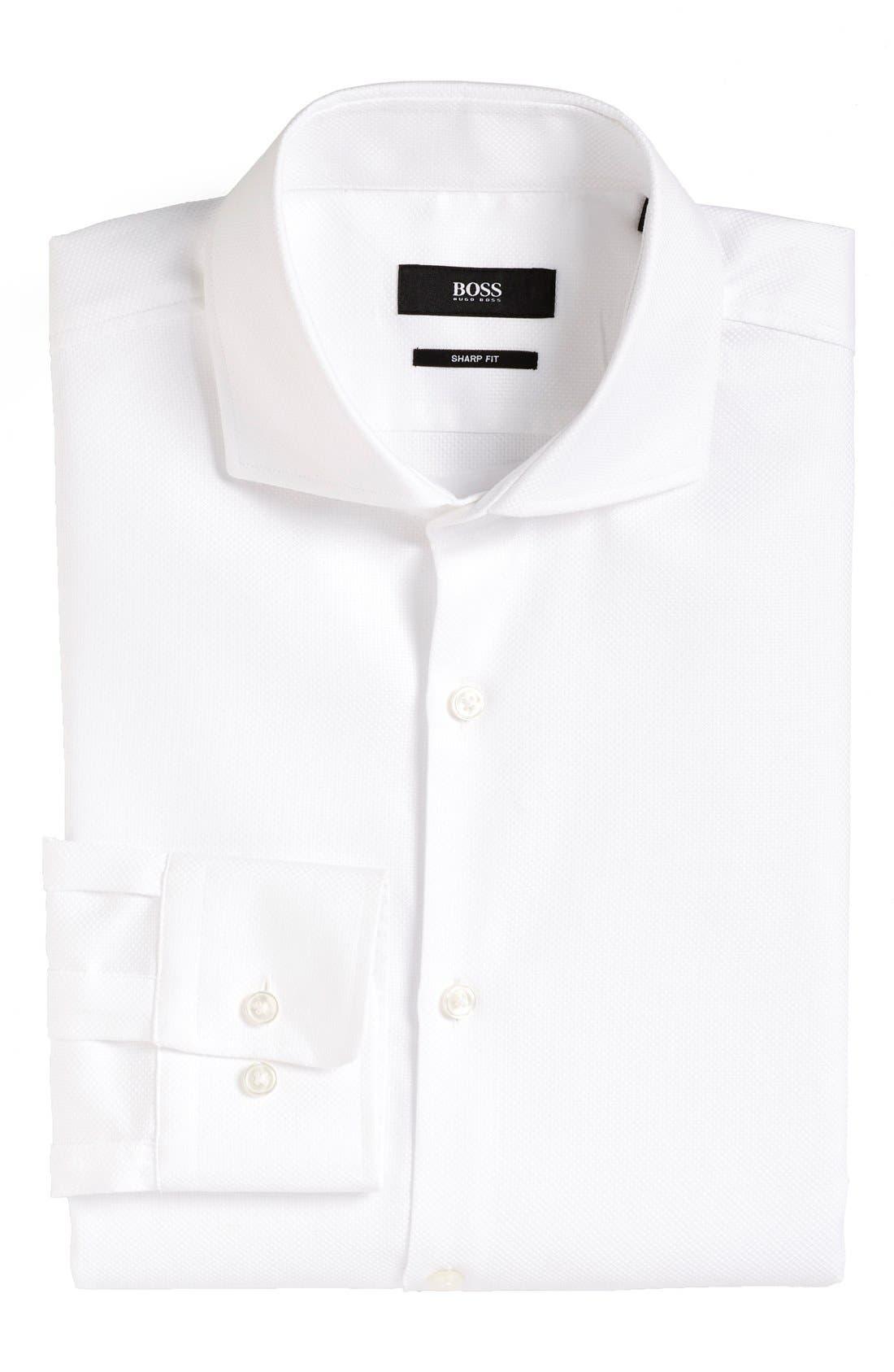 Sharp Fit Dress Shirt,                         Main,                         color, 100