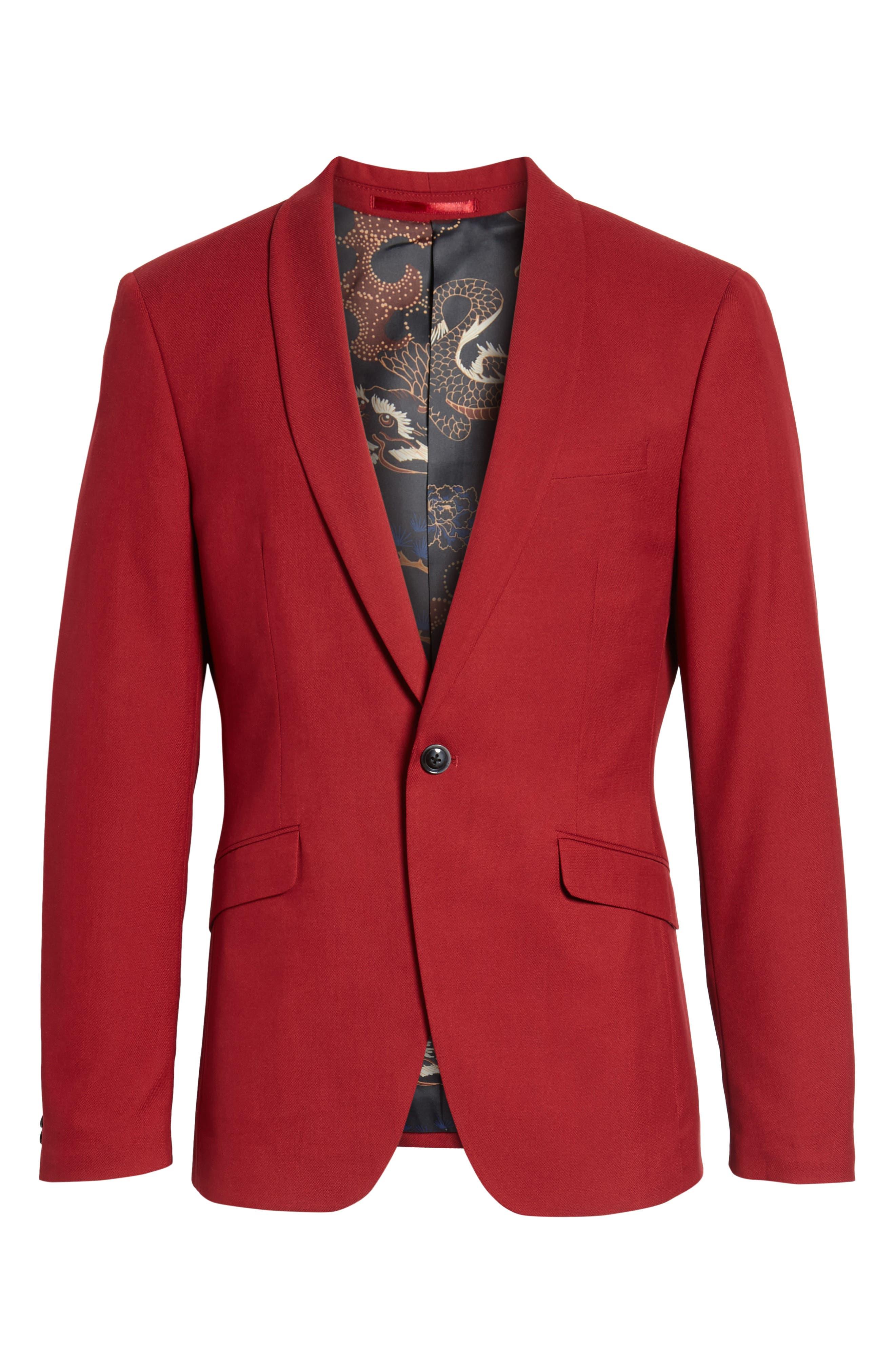 Skinny Fit Suit Jacket,                             Alternate thumbnail 5, color,                             600