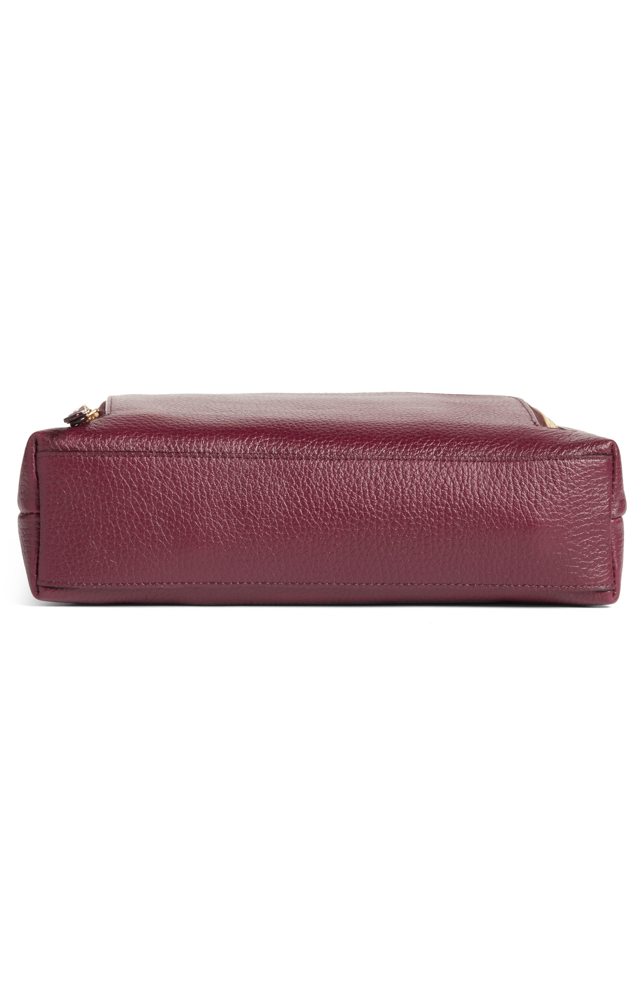 Pebbled Leather Crossbody Bag,                             Alternate thumbnail 24, color,