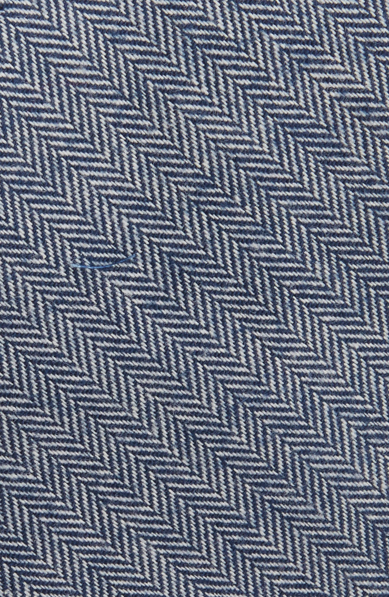 Herringbone Stretch Cotton Tie,                             Alternate thumbnail 2, color,                             410