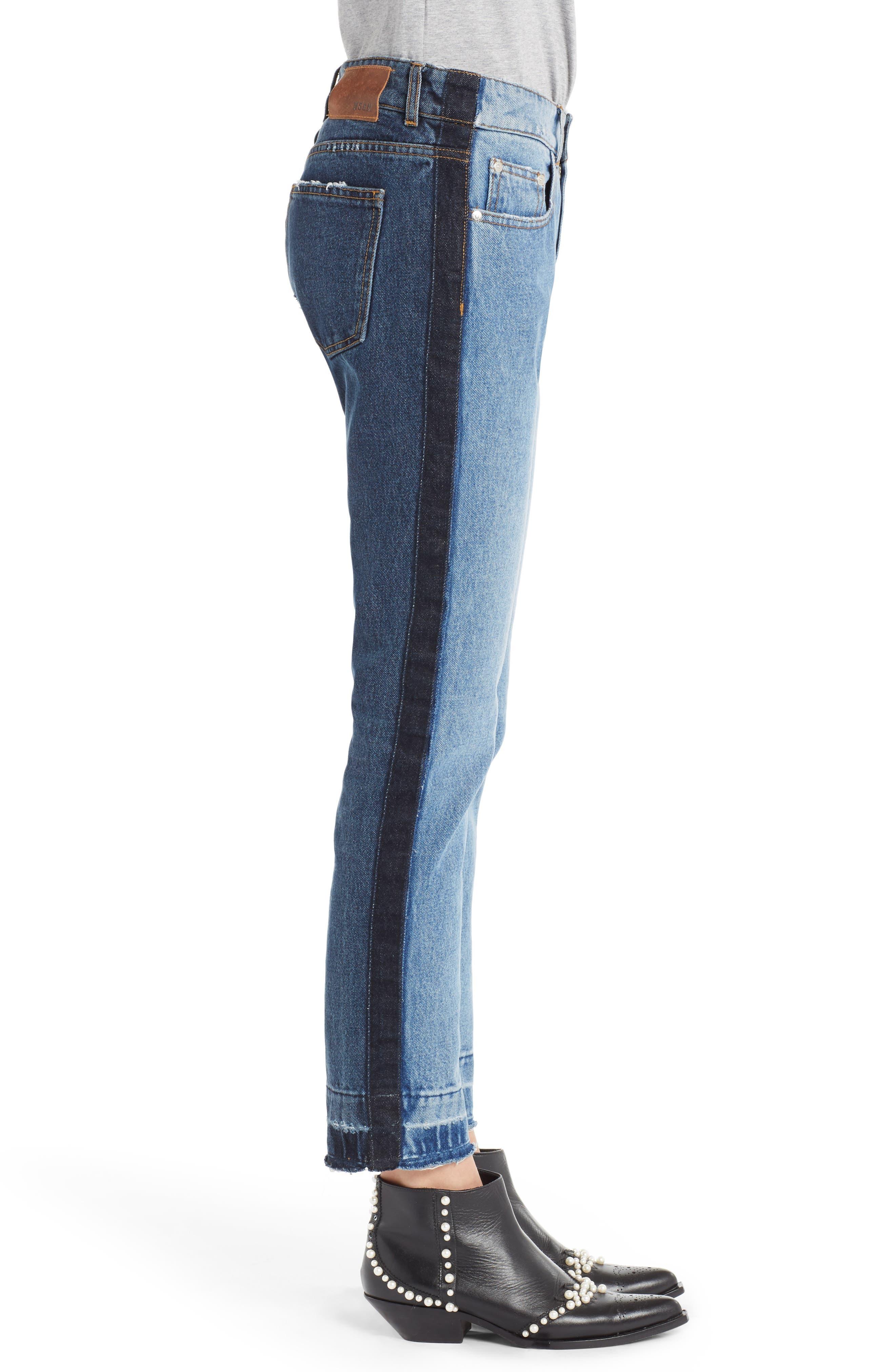 Paneled Jeans,                             Alternate thumbnail 3, color,                             400