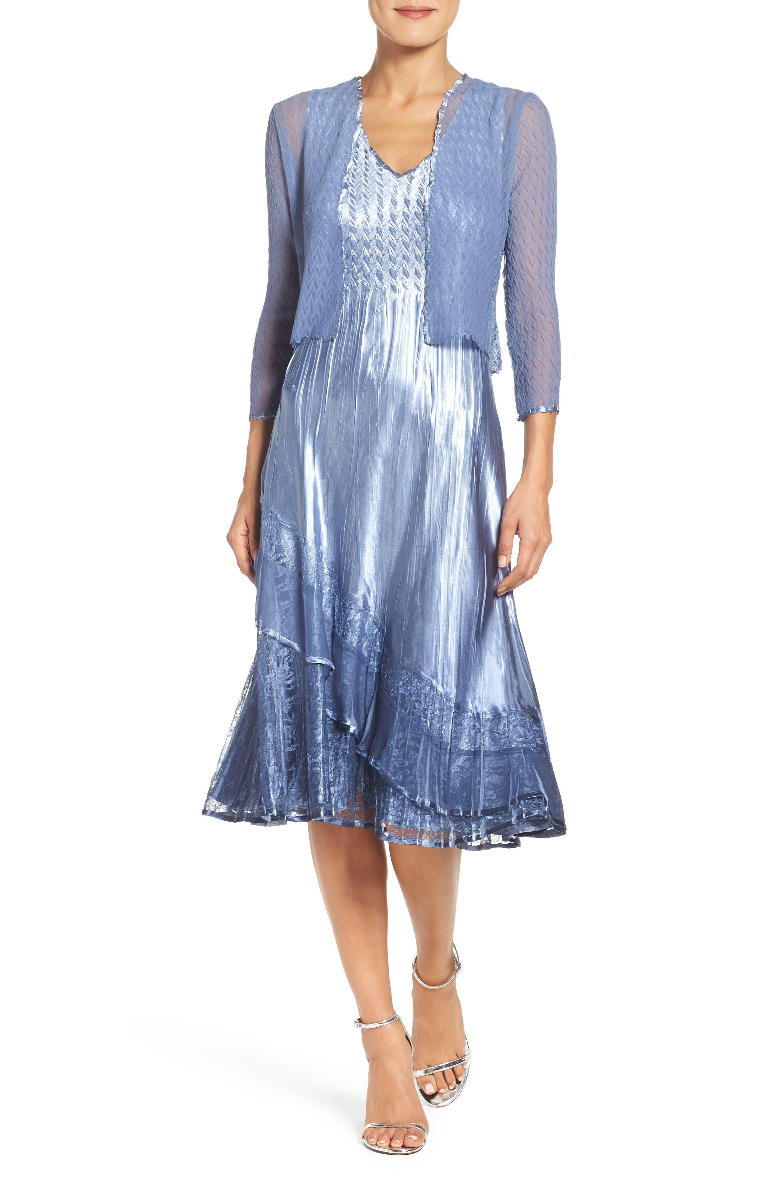A-Line Dress & Jacket,                             Main thumbnail 1, color,                             431