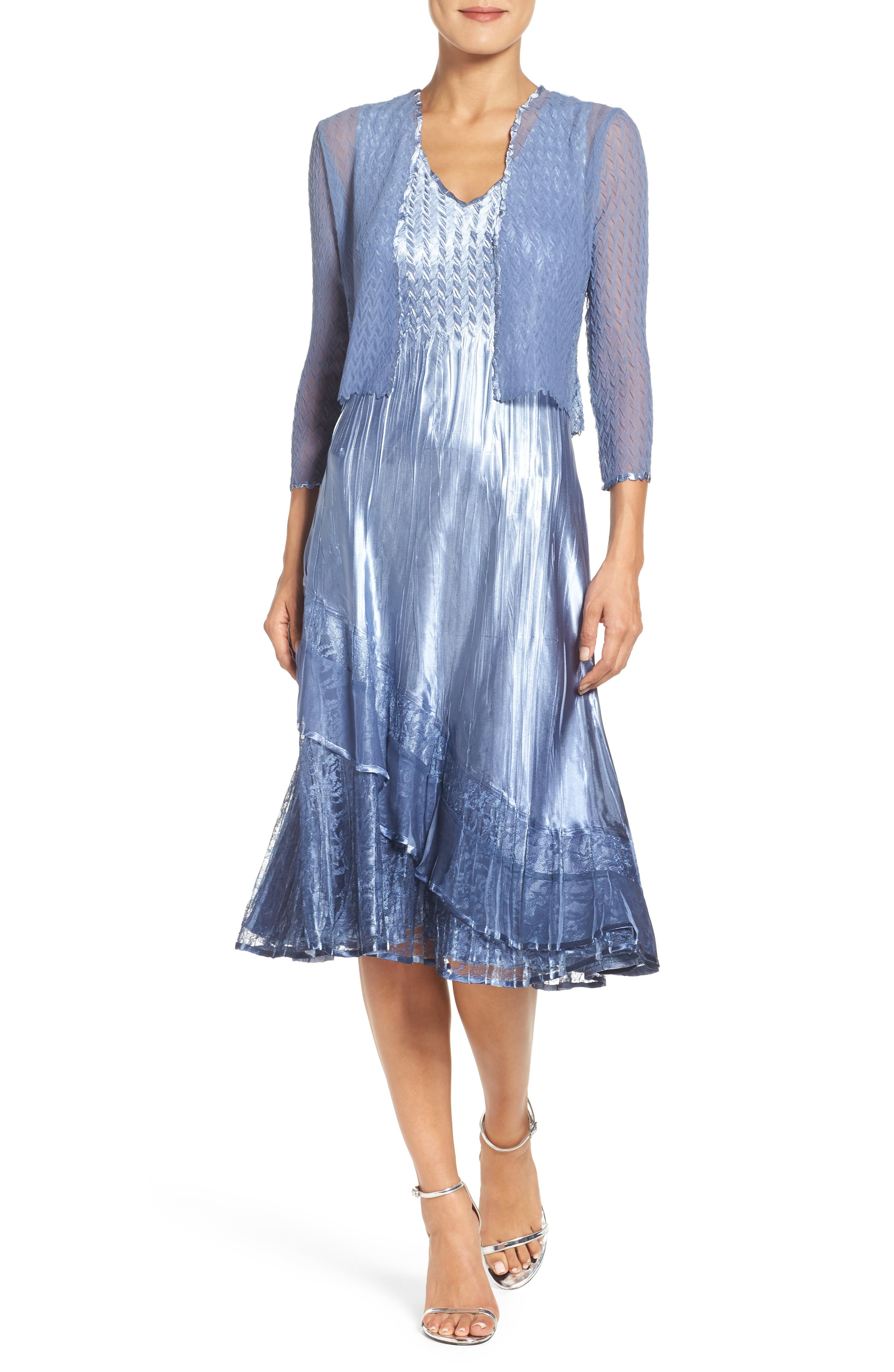 A-Line Dress & Jacket, Main, color, 431