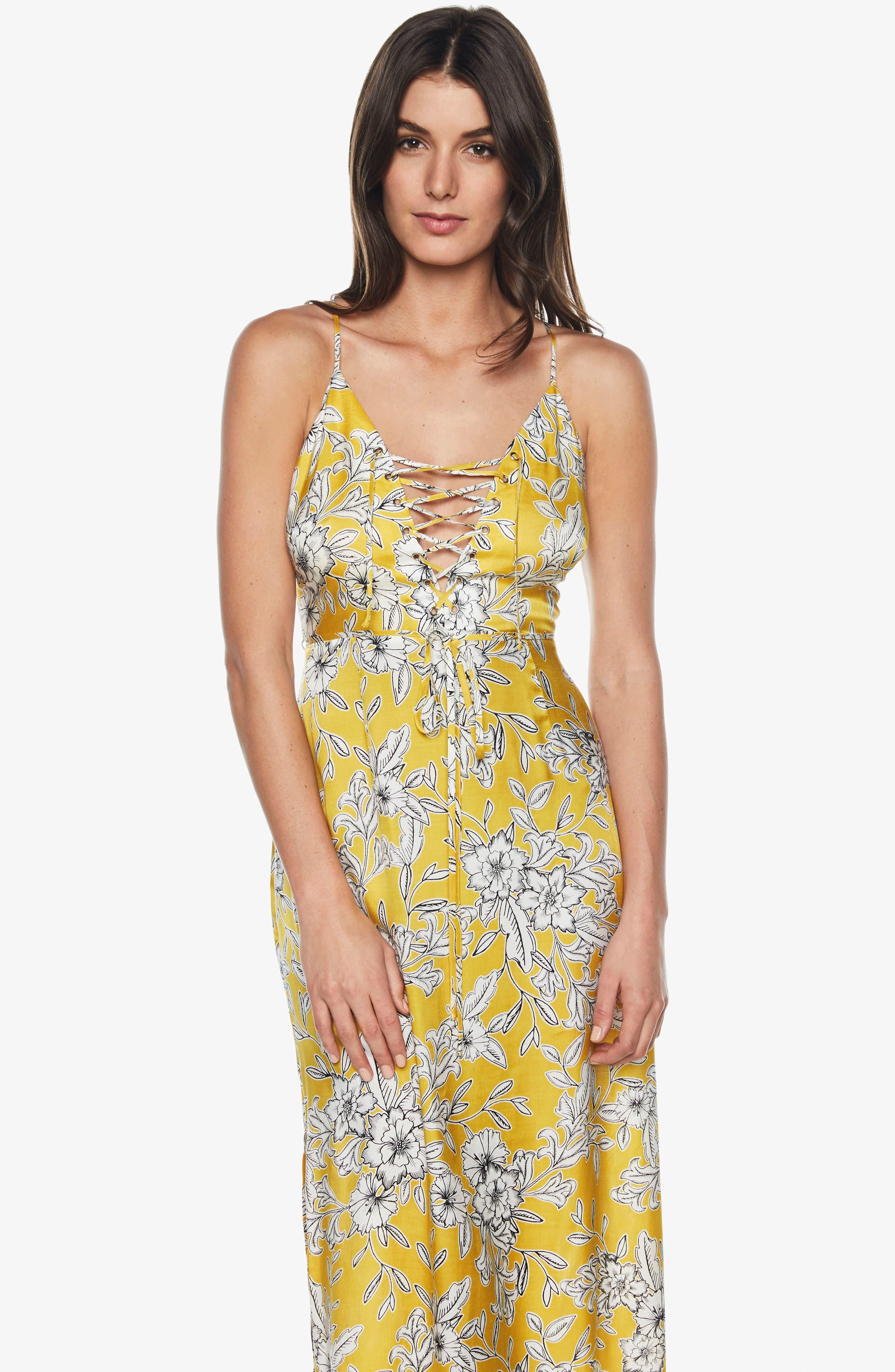 Karina Lace-Up Midi Dress,                             Alternate thumbnail 6, color,                             774