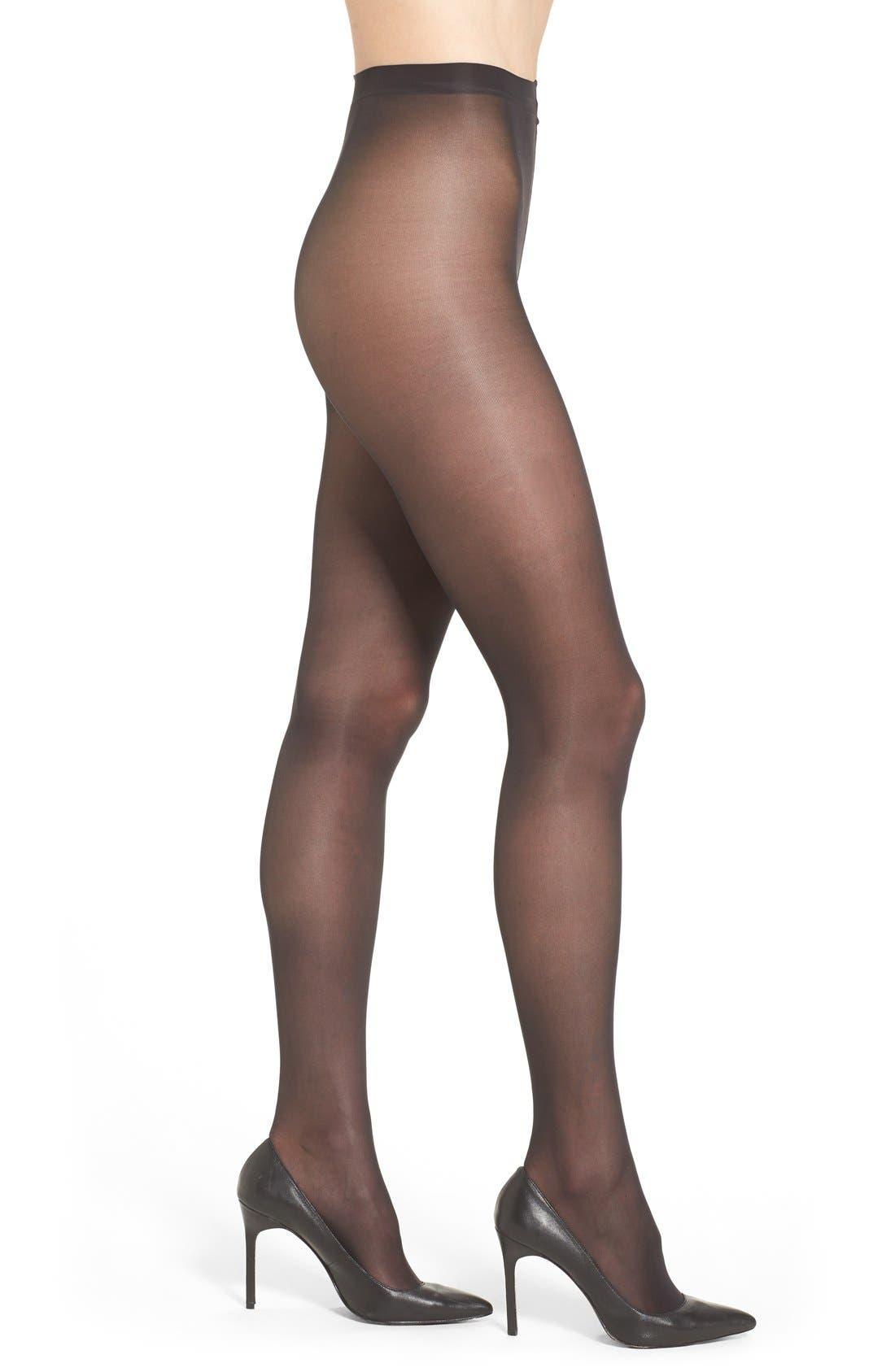 Donna Karan Evolution Semi-Sheer Pantyhose,                             Main thumbnail 1, color,                             003