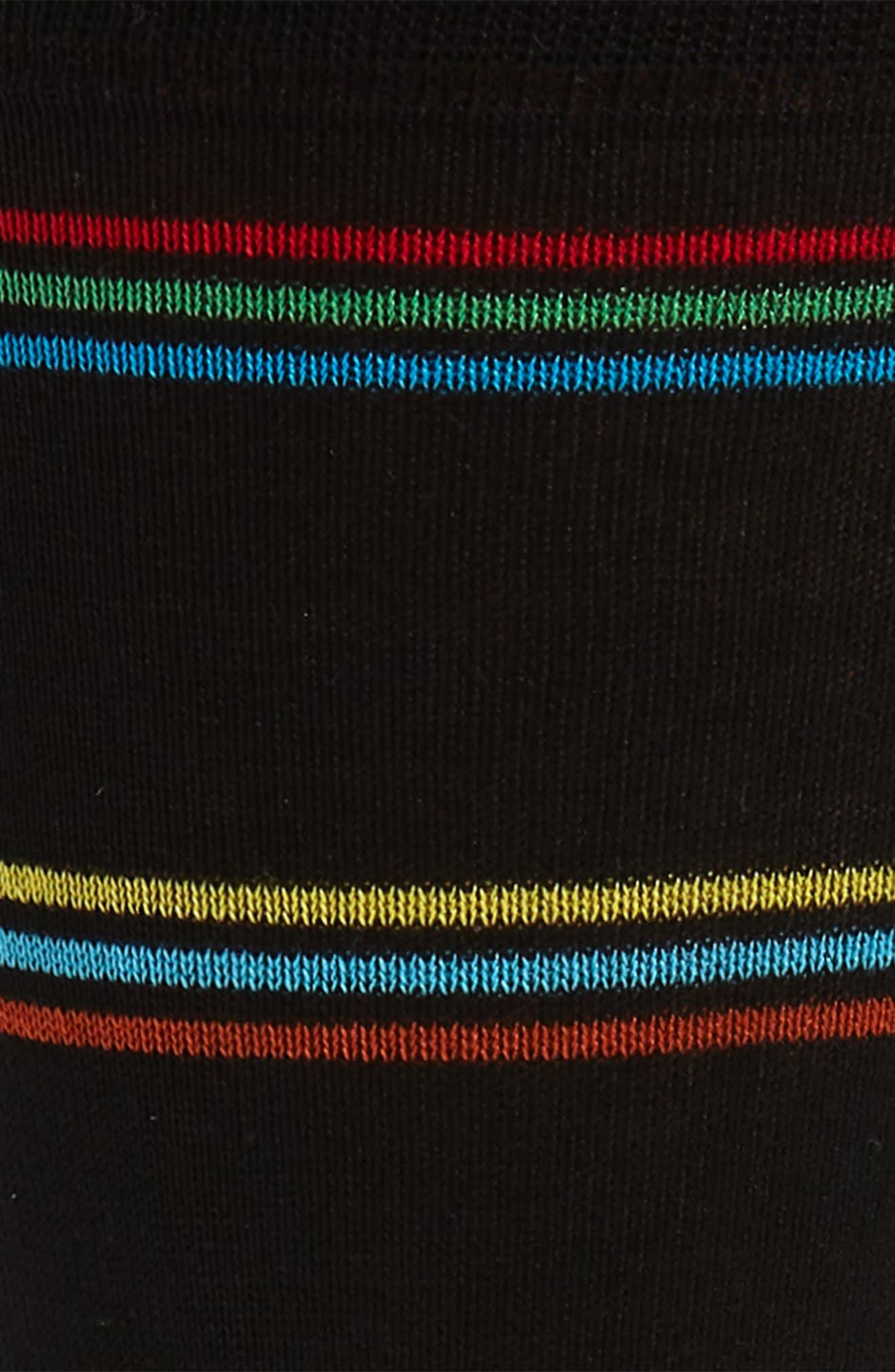 Mercerized Socks,                             Alternate thumbnail 2, color,                             BLACK
