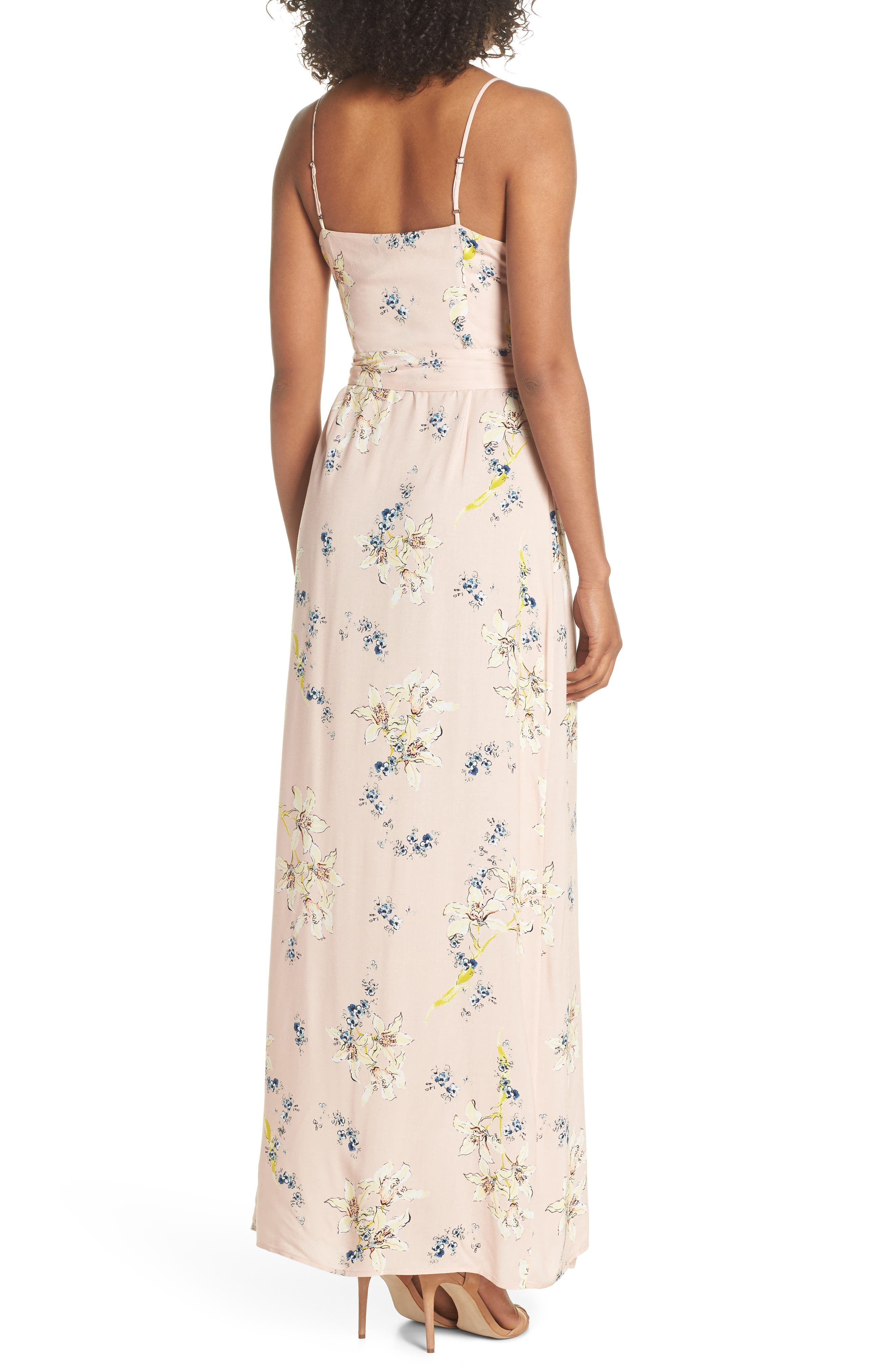 Regina Floral Print Maxi Dress,                             Alternate thumbnail 2, color,                             700