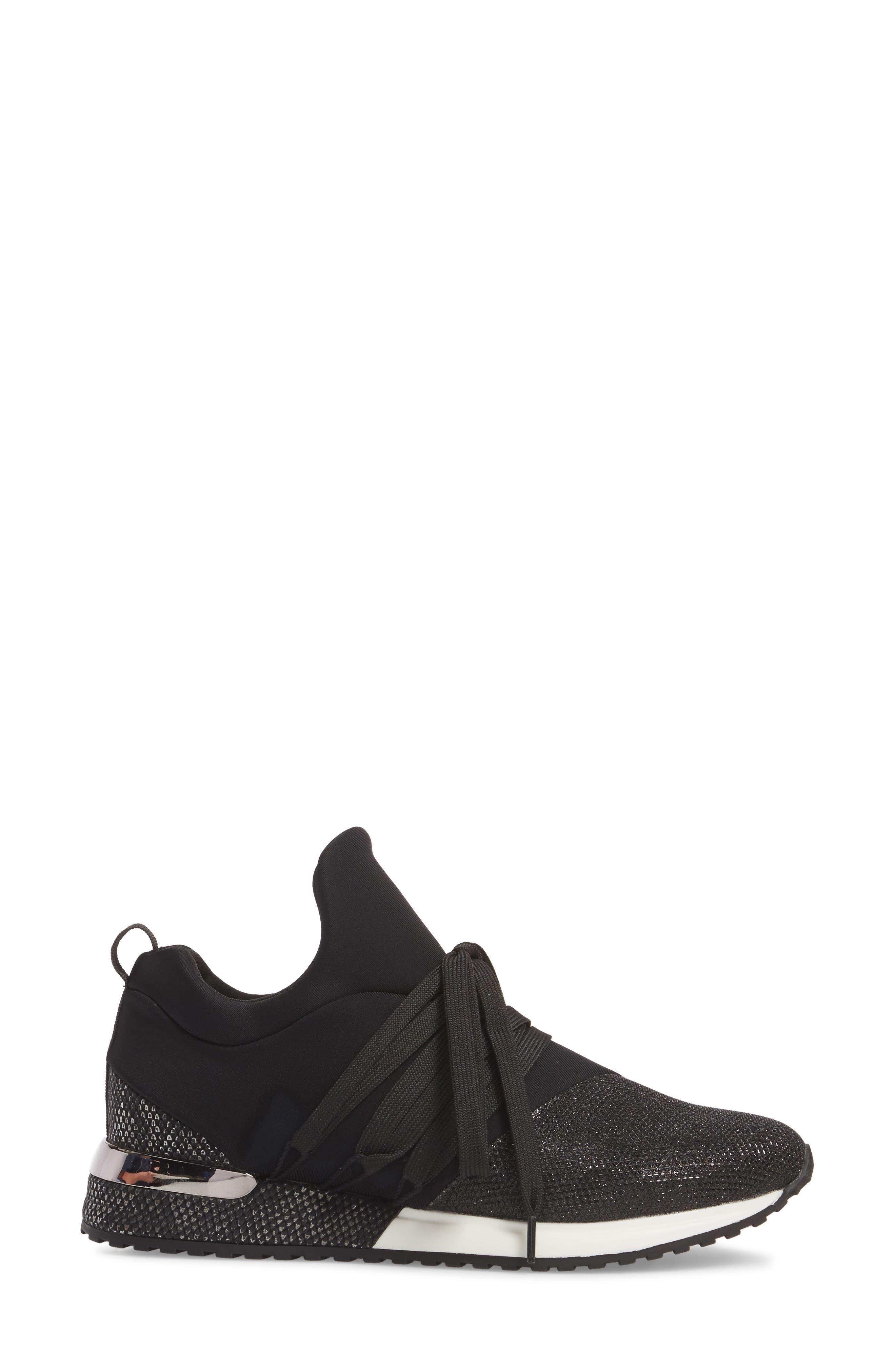 Zorro Sneaker,                             Alternate thumbnail 3, color,                             BLACK FABRIC