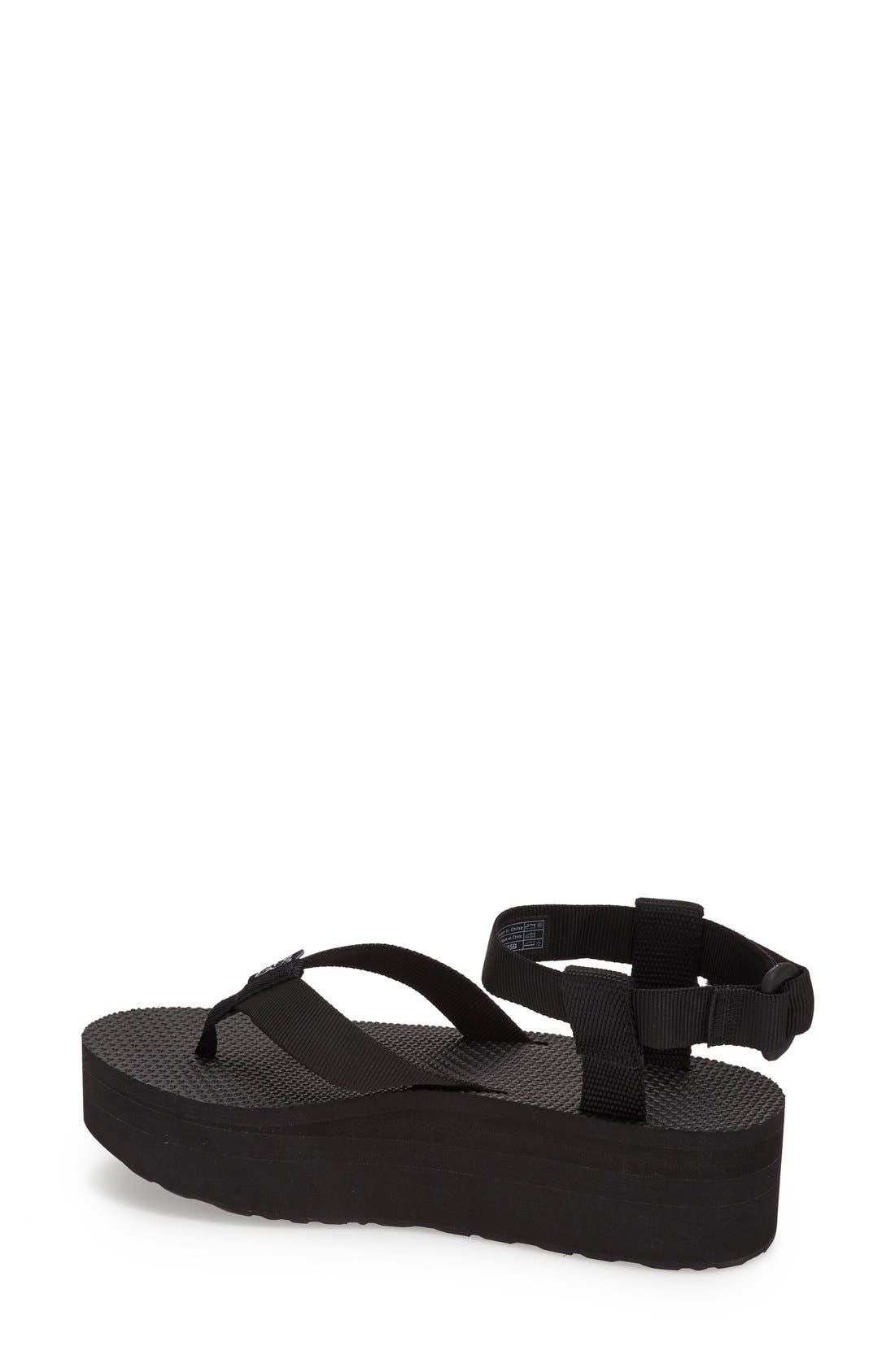 TEVA,                             'Original' Flatform Sandal,                             Alternate thumbnail 3, color,                             001