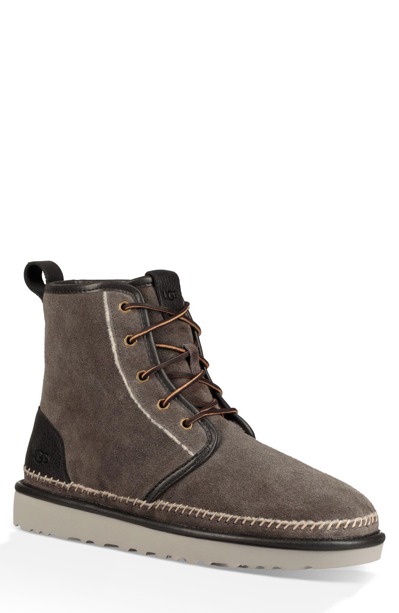 Harkley Stitch Plain Toe Boot,                         Main,                         color, DARK GREY